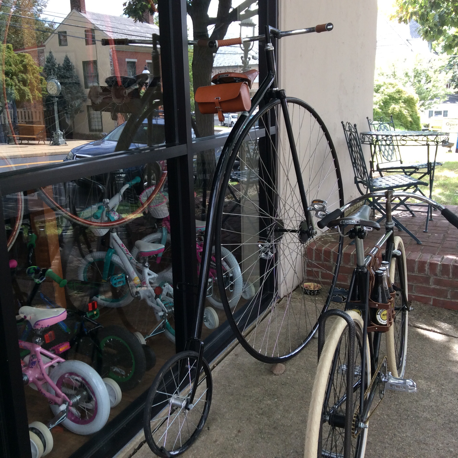 Doylestown Bike Works with two Boneshakers and a six-pack holder.