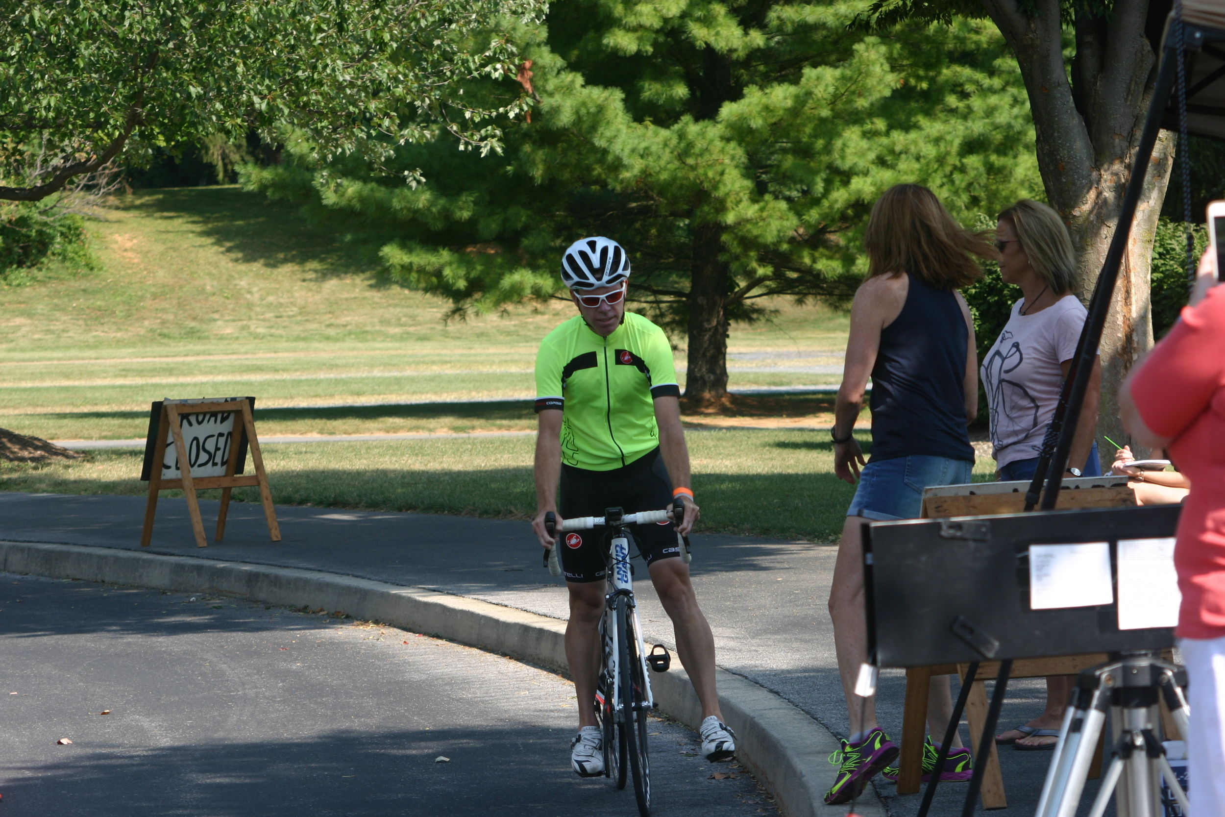 First rider across the line. Photo courtesy Chuck Rudy.