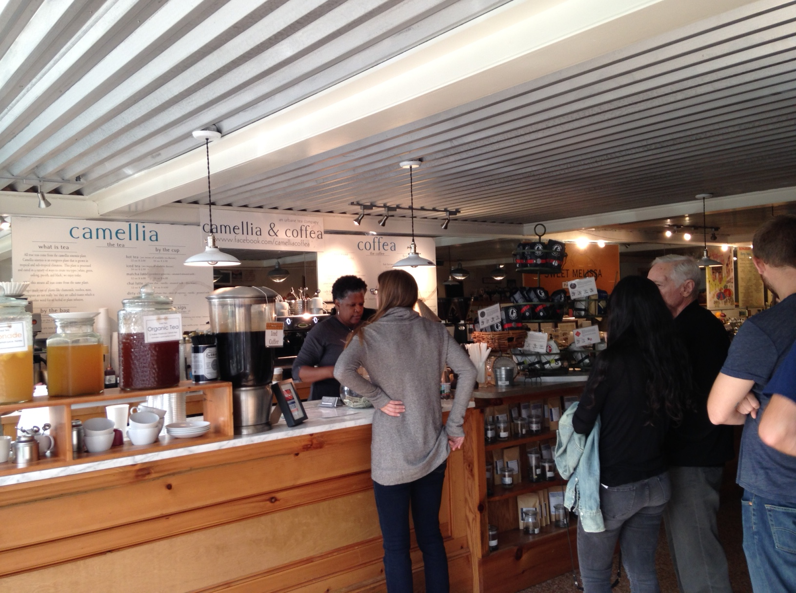 The coffee counter with its La Colombe coffee. The line was rather remarkable today. But it moved quite quickly.