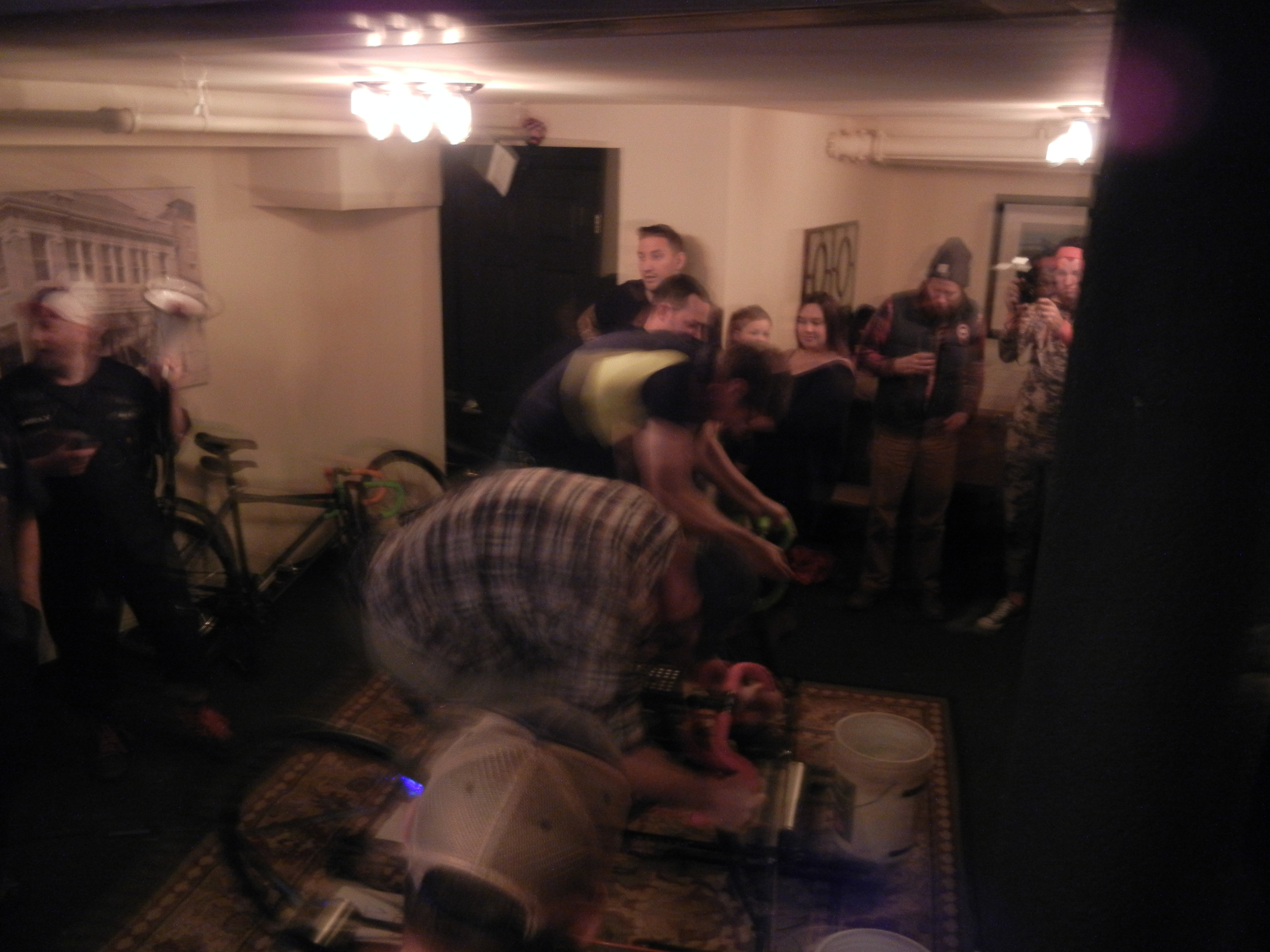 Full gas in flannel, complete with drummer rug and barf bucket.