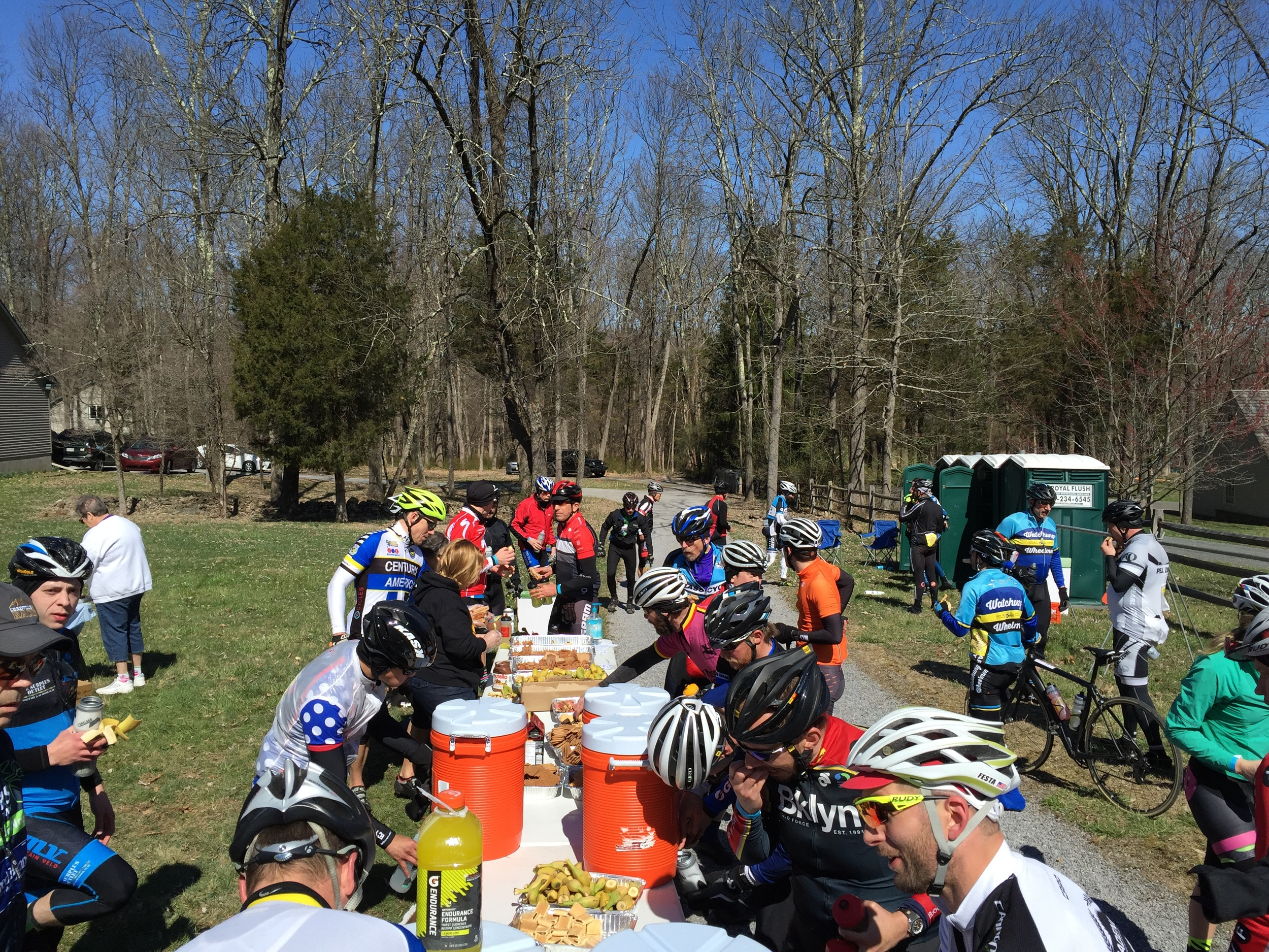 The first rest stop on Strimples Mill Road.