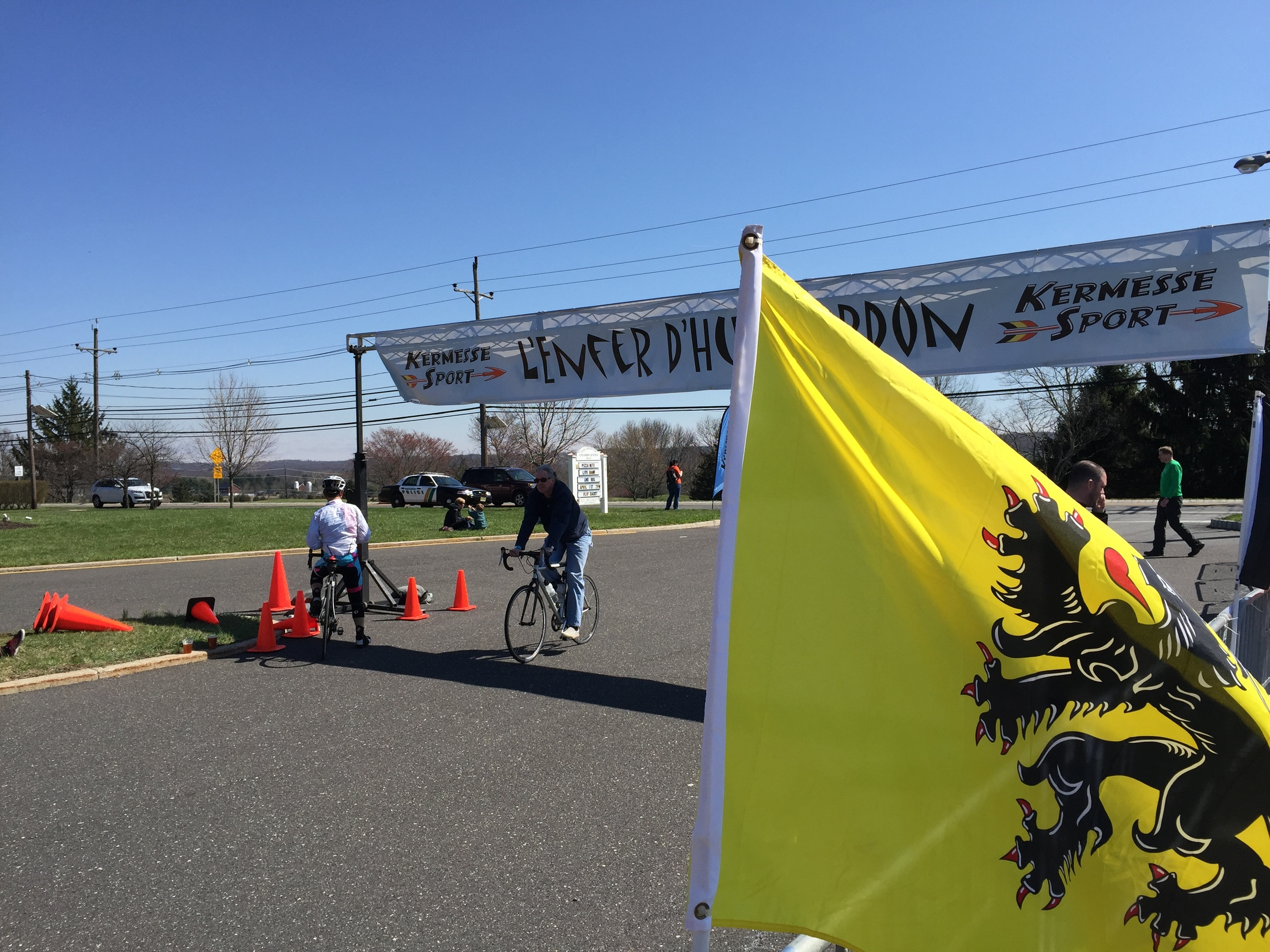 The start/ finish line saw riders continuing to cross it well after 4 o'clock.