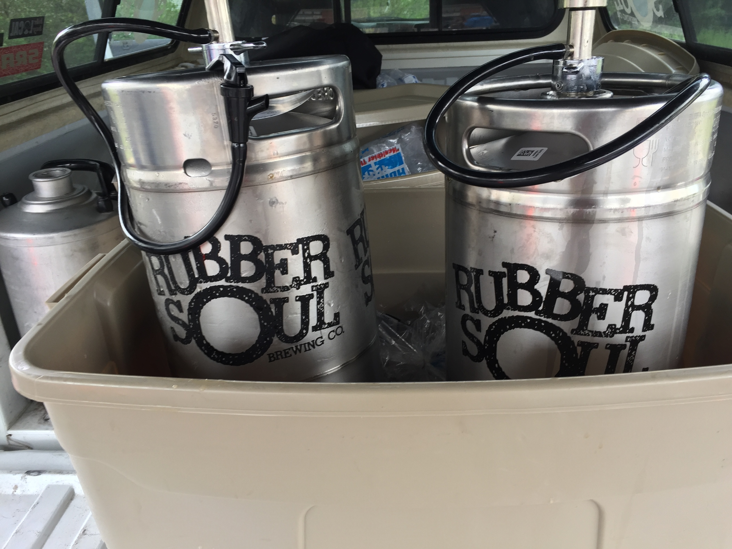 Rubber Soul Brewing Company was the provider of some excellent post-ride rehydration.