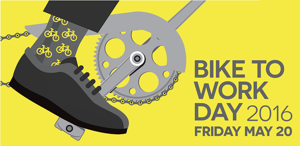 Bowling shoes and single speed, clipless and road bike, no matter what you ride, try to keep the car parked Friday.