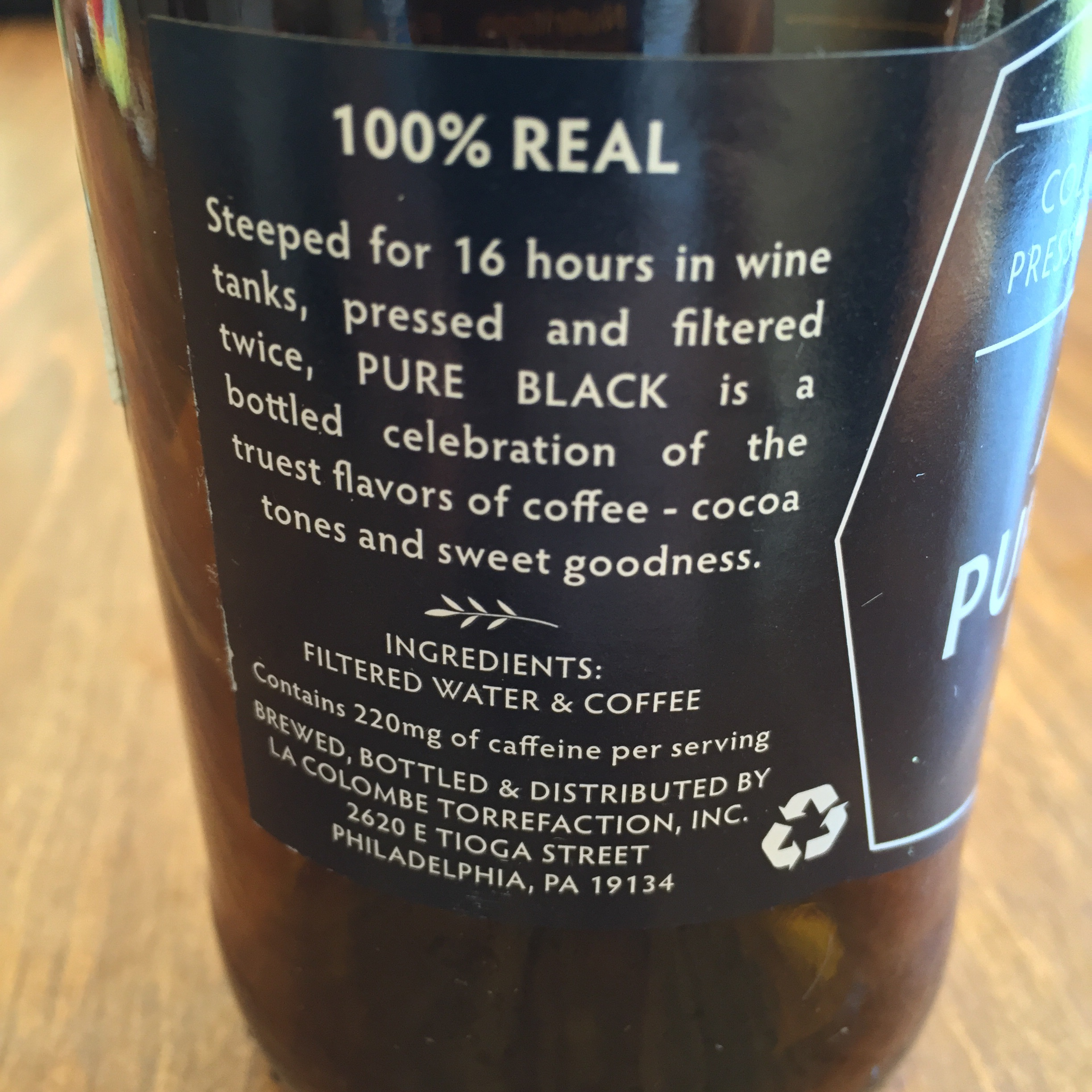 Considering the bottle is strangely 1.5 servings, this bottle contains 330 mg of caffeine total.