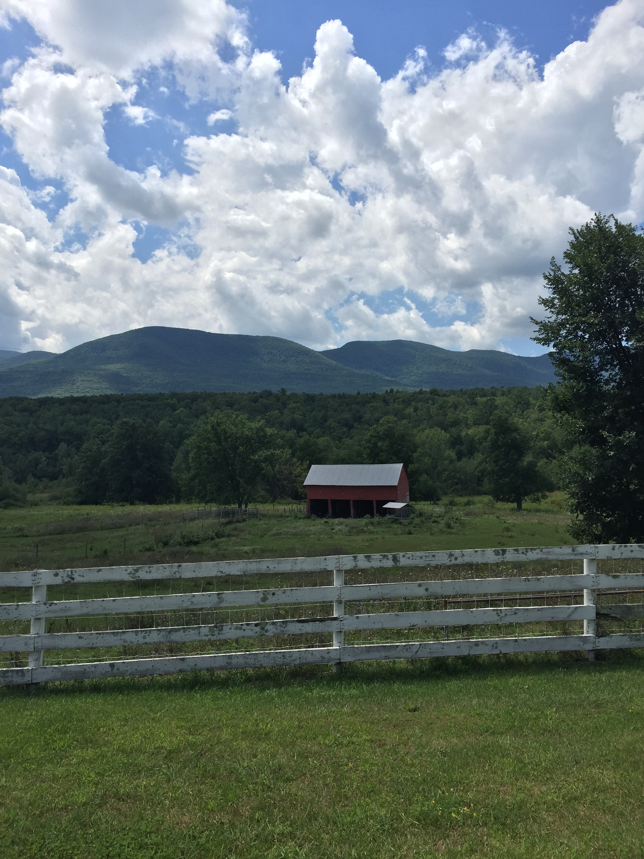 The Catskills do farm and mountain views extremely well. Once I got properly dropped I turned my attention to photographing.