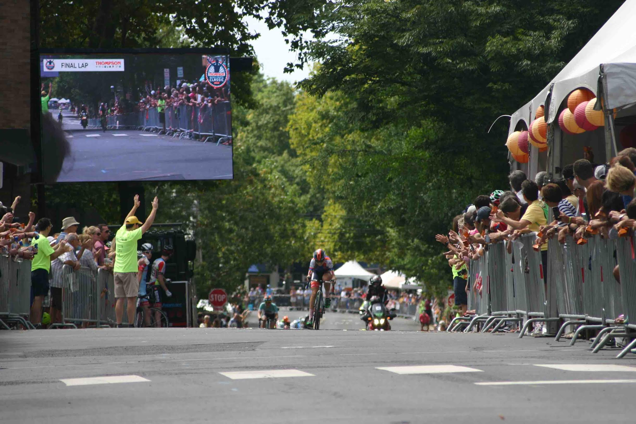 Skylar Schneider's sprint finish shed every rider behind her. Photo courtesy Chuck Rudy.