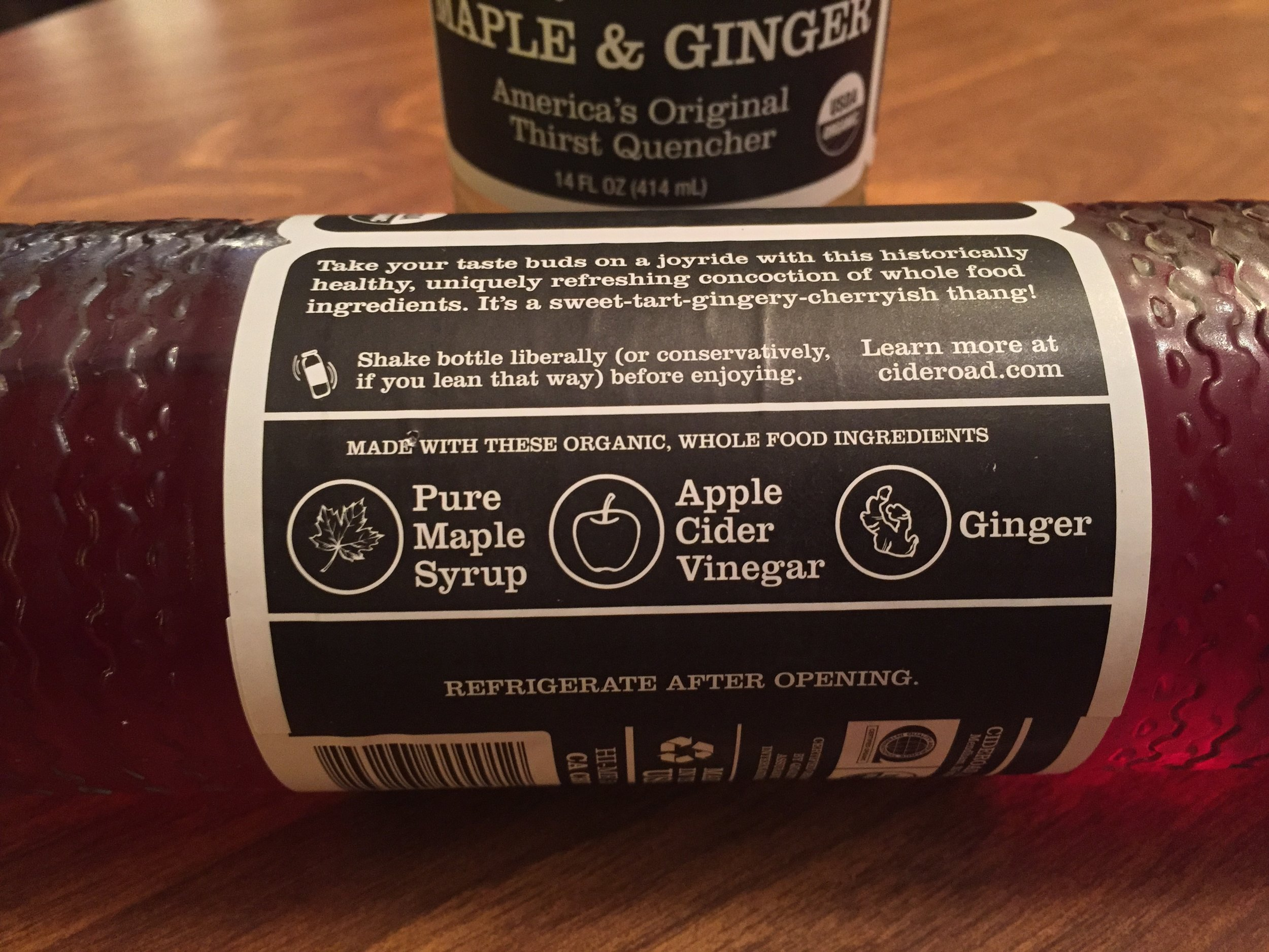 The main ingredients of switched are highlighted on the label, as are the instructions for how to shake it.