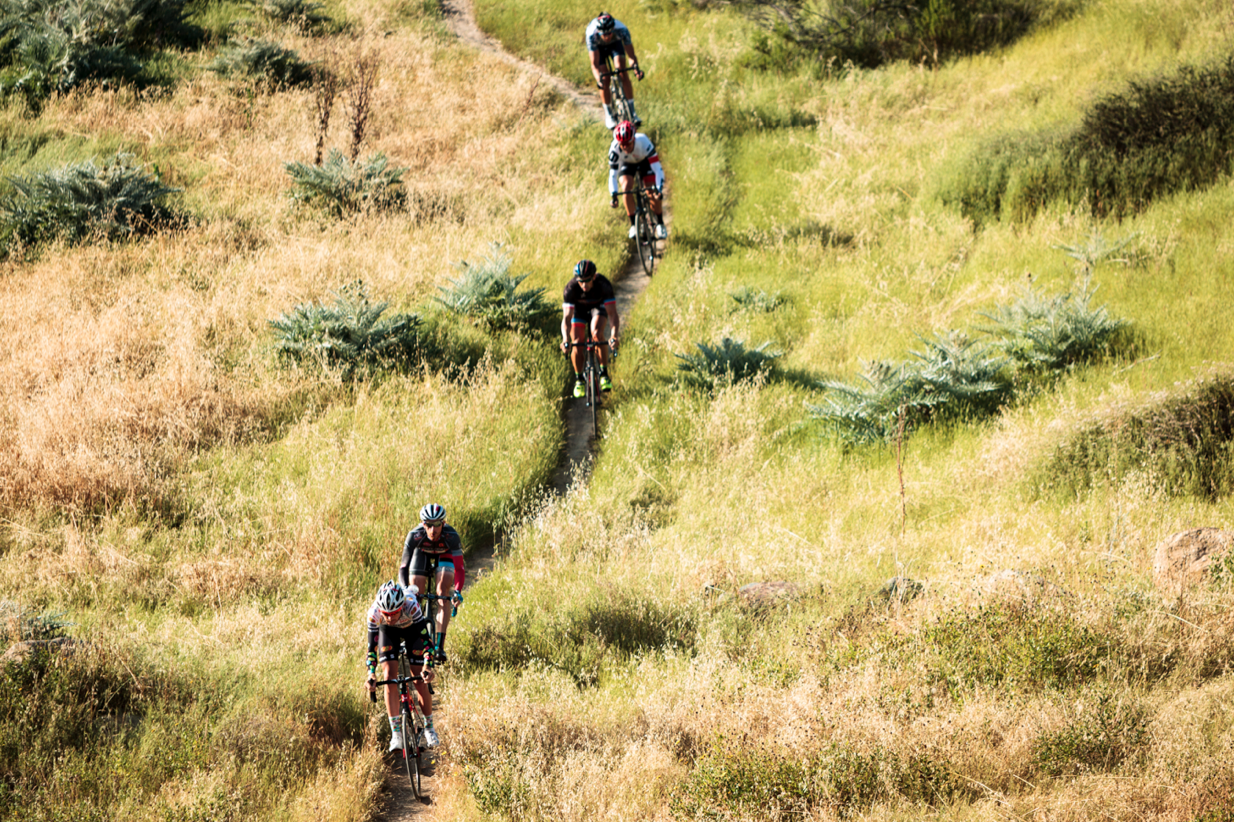 Photo from Cyclocross Magazine - A portion of the 'unpaved' Belgian Waffle Ride.