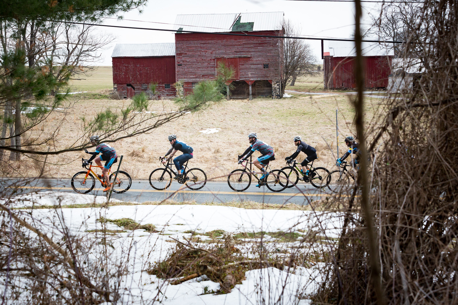 Groups would come together and disperse regularly over the first half of the 2017 Hell of Hunterdon. Photo courtesy Mike Maney.