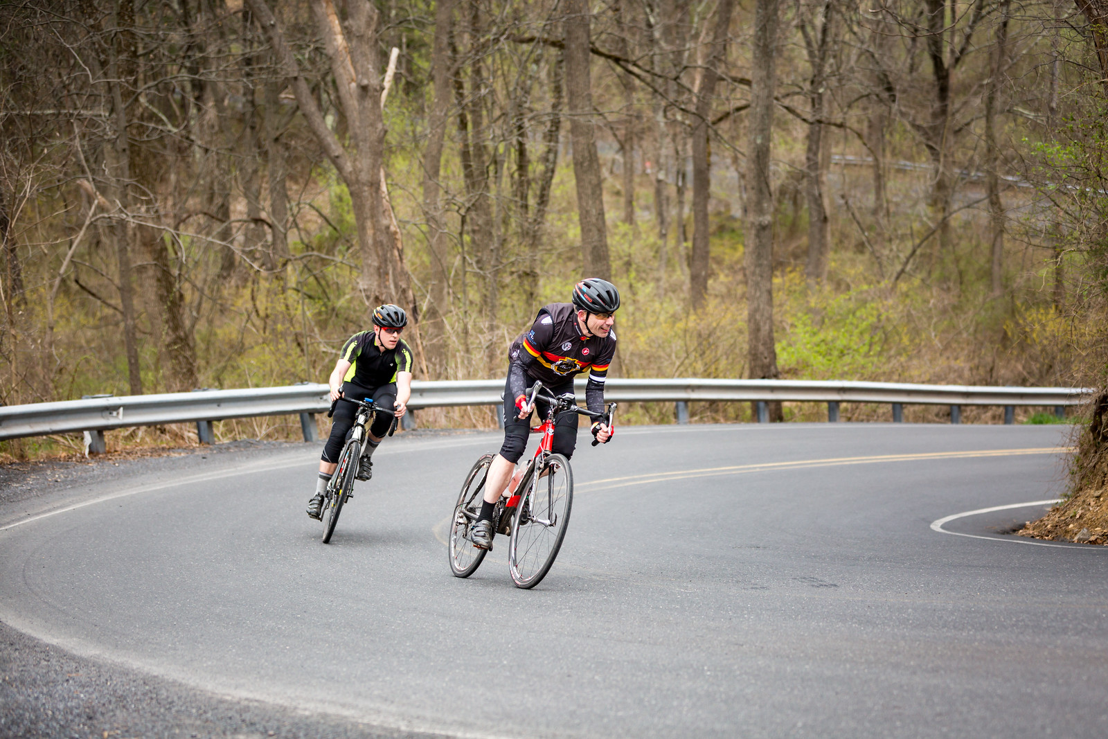 This section of Gallows Hill involved a winding descent that splayed many grins on the exit.   Photo courtesy Mike Maney.