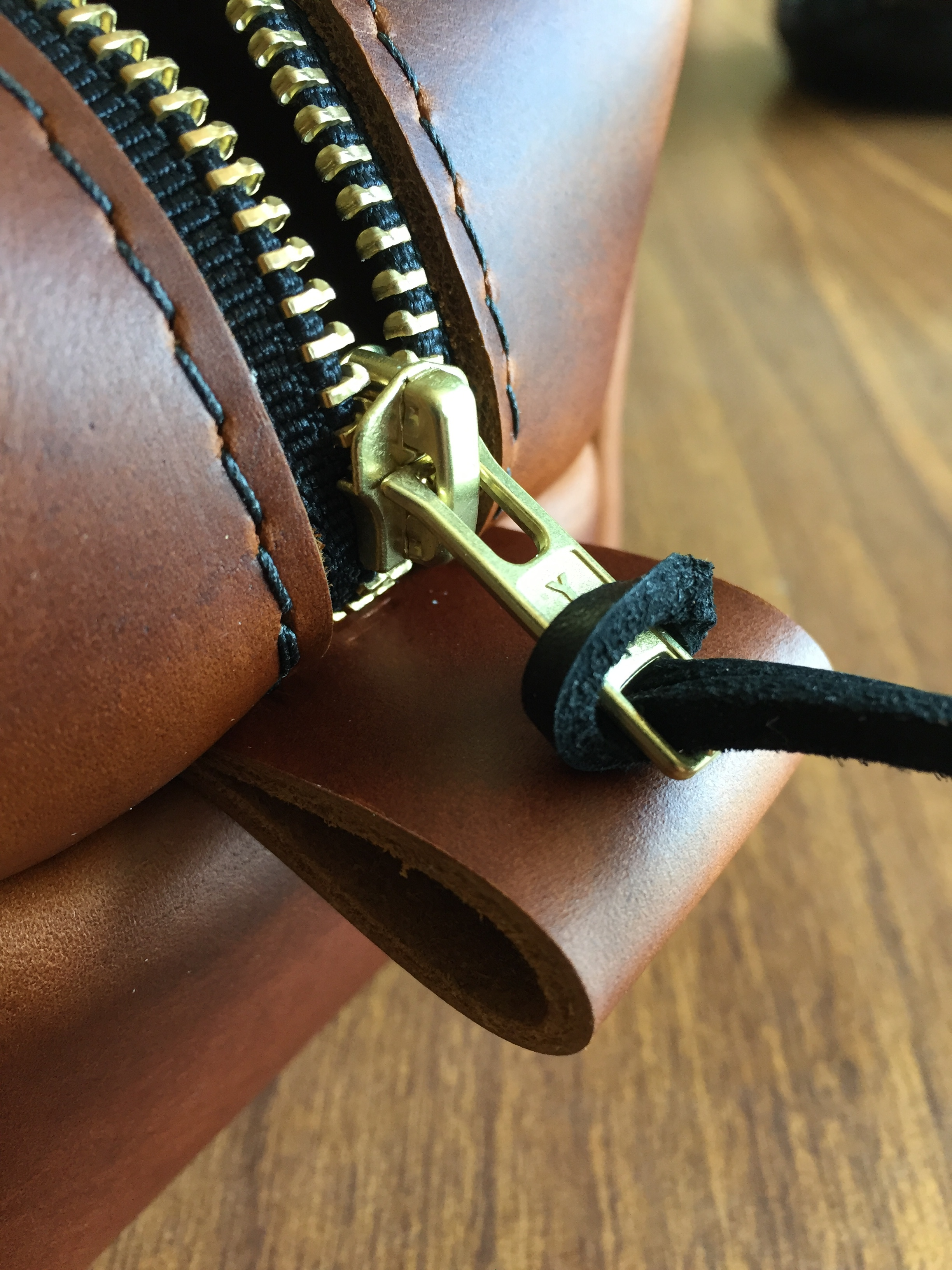 The piece used most, the zipper, is stout and commanding.