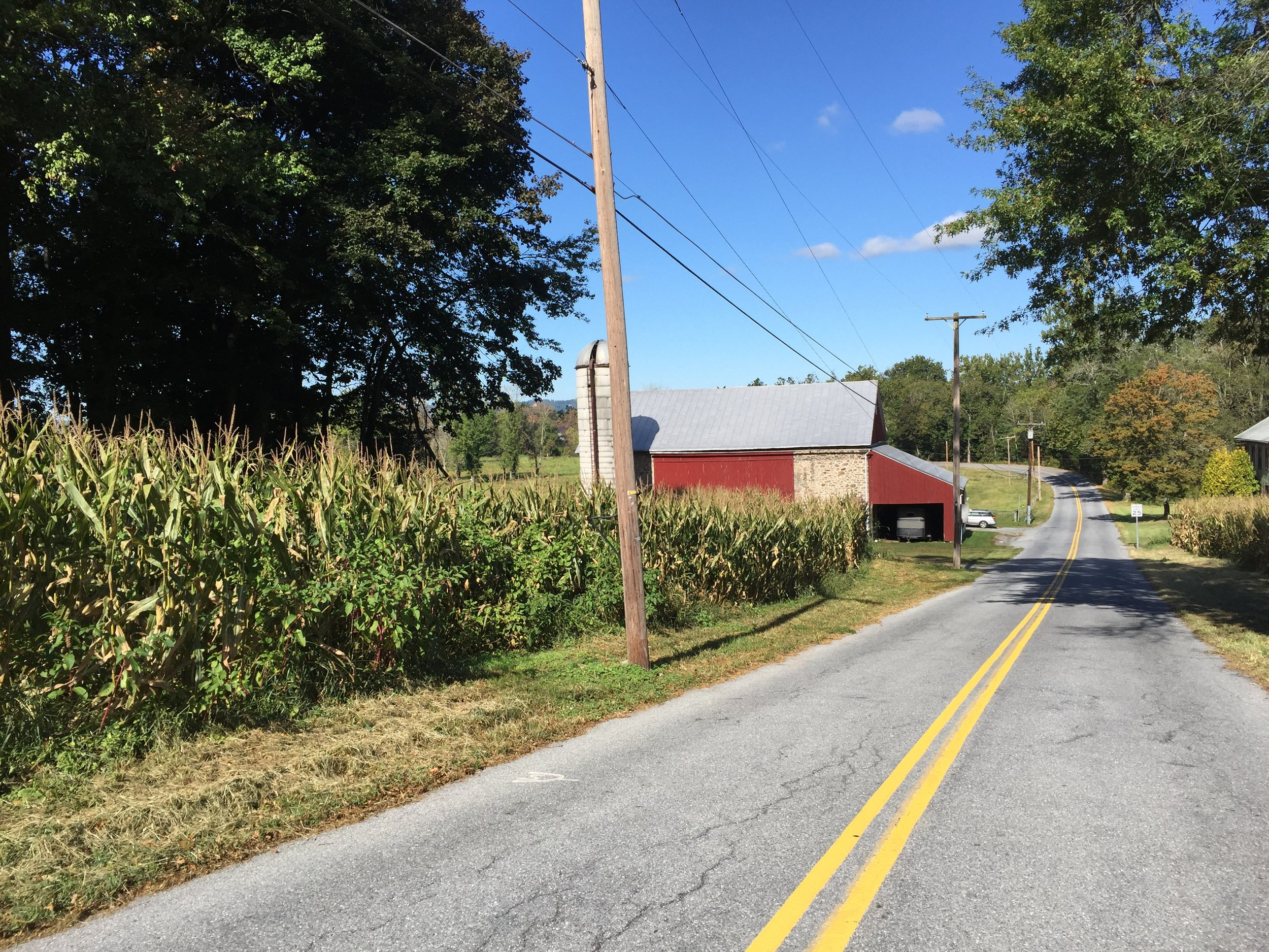 There are numerous barns along the route capturing the feeling of Lehigh and Berks County.