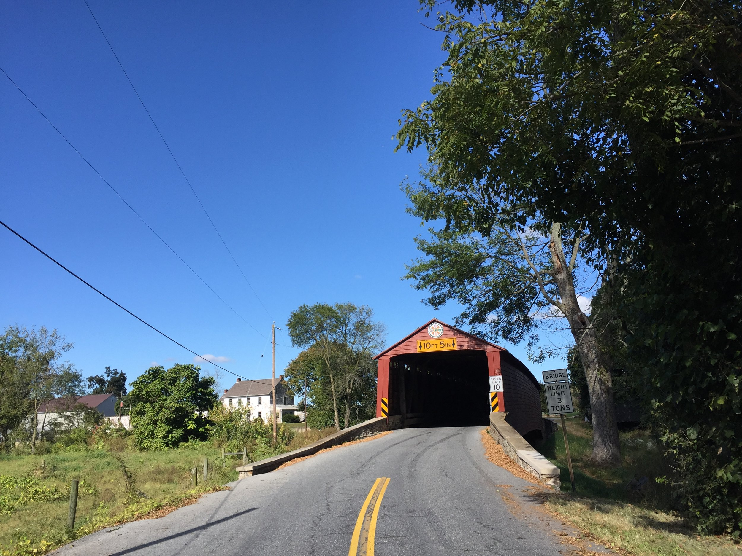 This is the only covered bridge on the route though a second covered bridge could easily be added earlier in the route.
