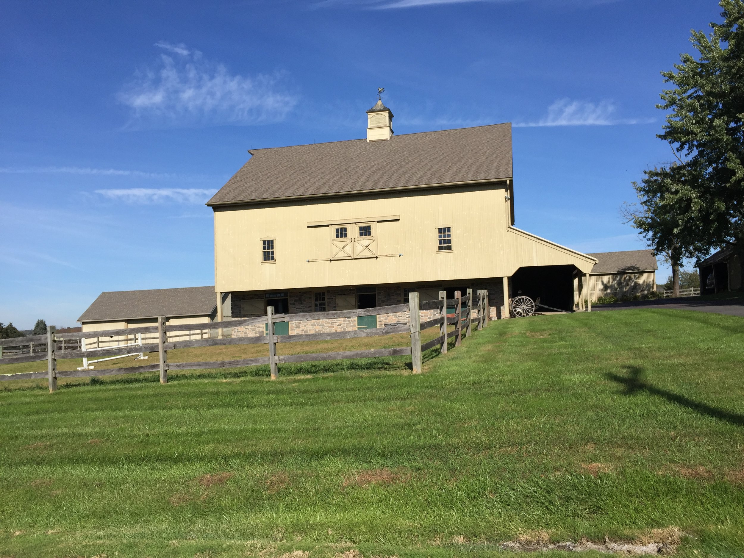 This impressive barn can be found just off of Landis Road outside of Harleysville, PA. It is near the ten-mile-to-go mark on the route.
