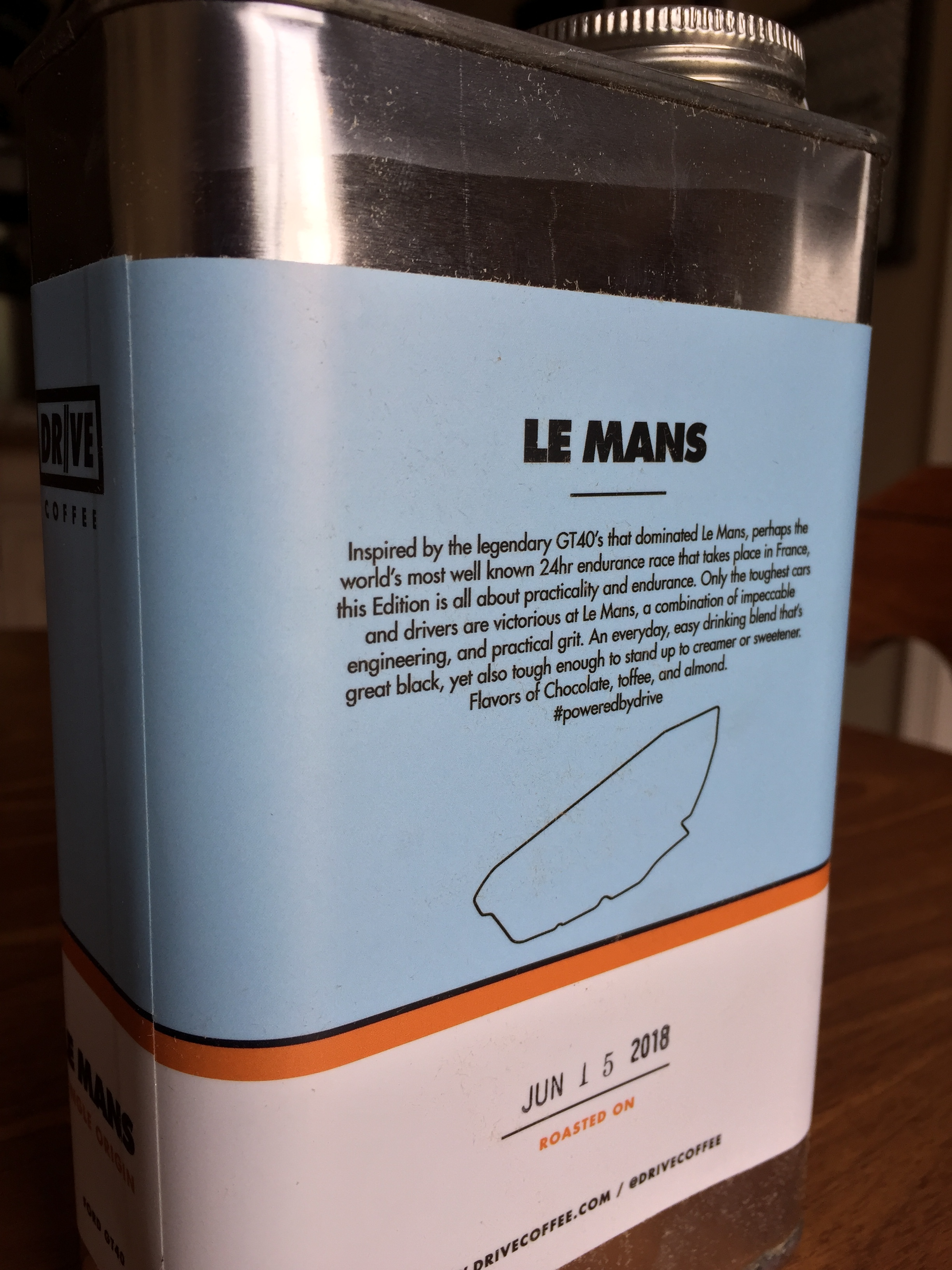 The Le Mans roast date is printed on the label for the exact roasting day.