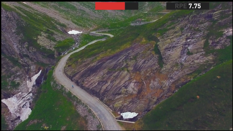 One of the beautiful scenes from The Sufferfest App's  G.O.A.T . Here is the cobbled climb that Mike Cotty says is not like the stones of Roubaix or Flanders.