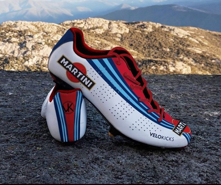 I think the Striipe Design socks would go perfectly with these concept pair of VeloKicks lace-up cycling shoes. (Picture via VeloKicks Instagram feed)