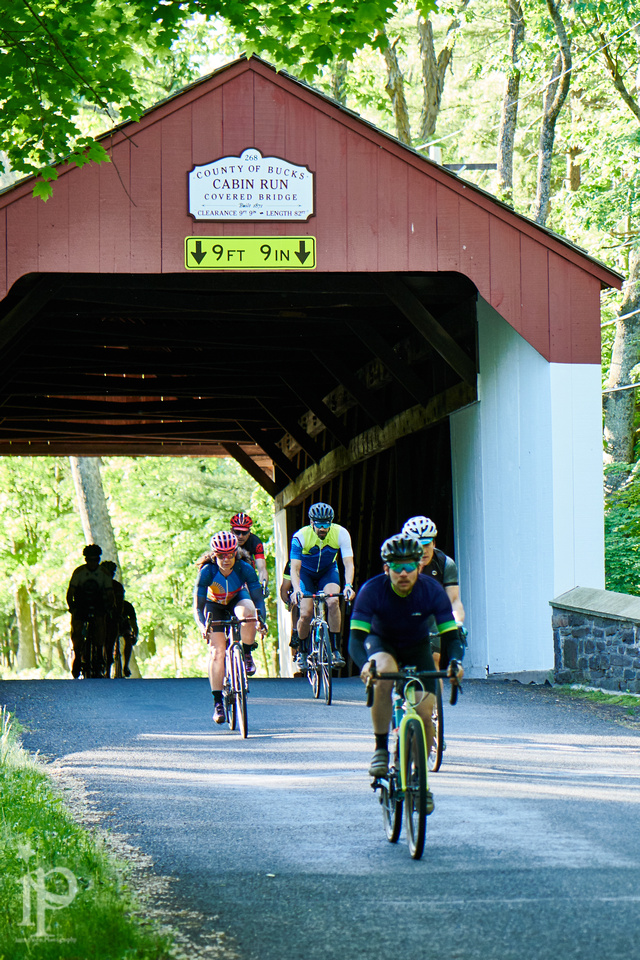 What would a Bucks County ride be without a covered bridge, too? Photo credit  Jason Wood .