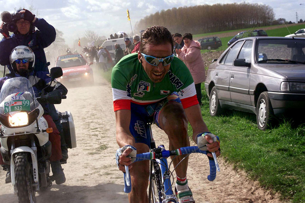 Andrea Tafi, 1999 Paris-Roubaix winner, will lead out the Rock-N-Road Gravel Series. Photo courtesty    G4 Productions   .