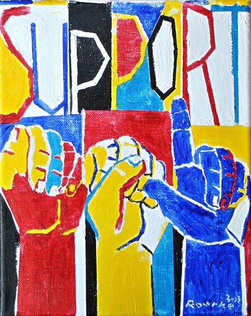 """ Support ASL,"" by  Nancy Rourke , 2013."