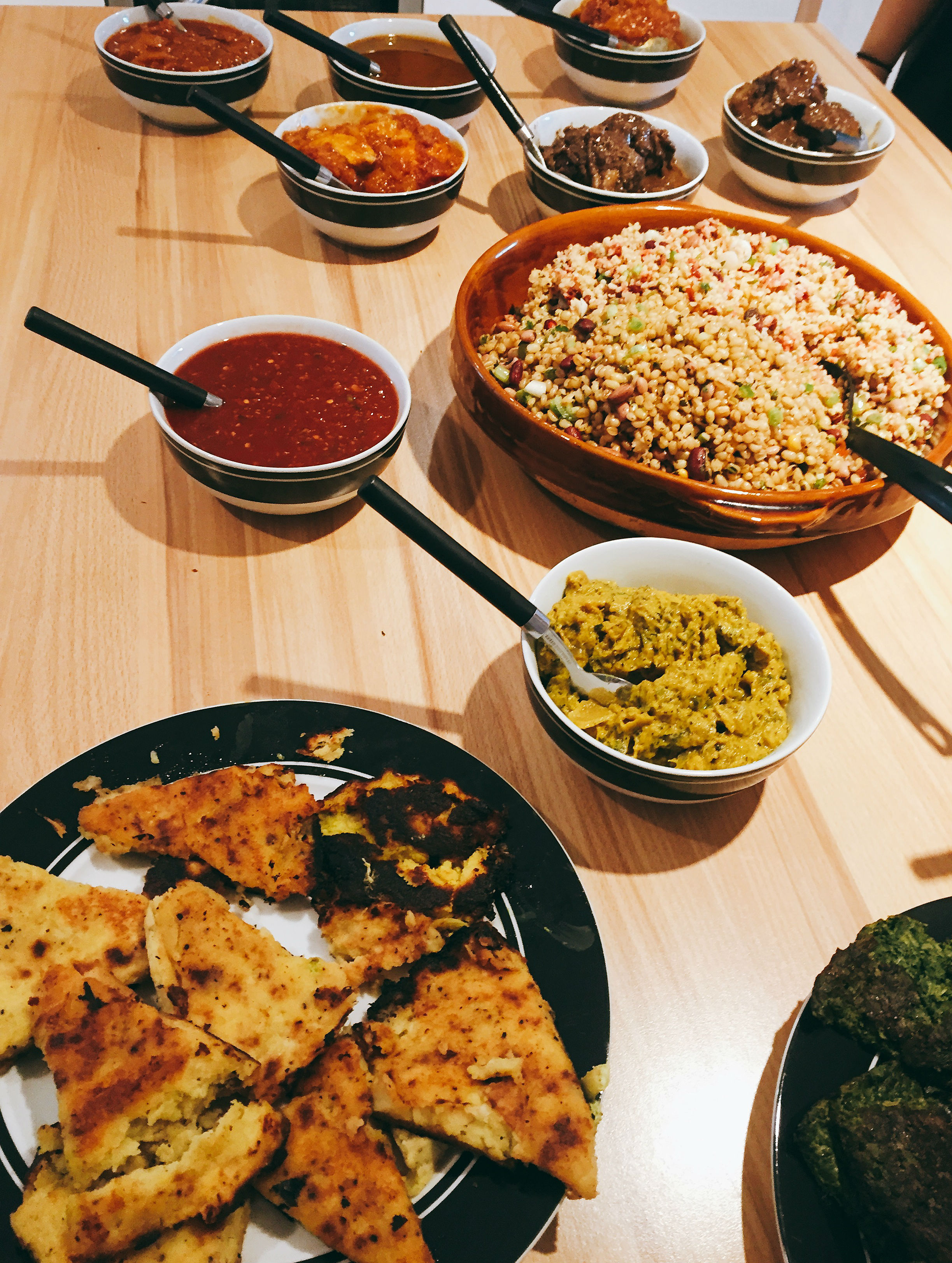 Authentic Persian feast showcasing Anzali's products