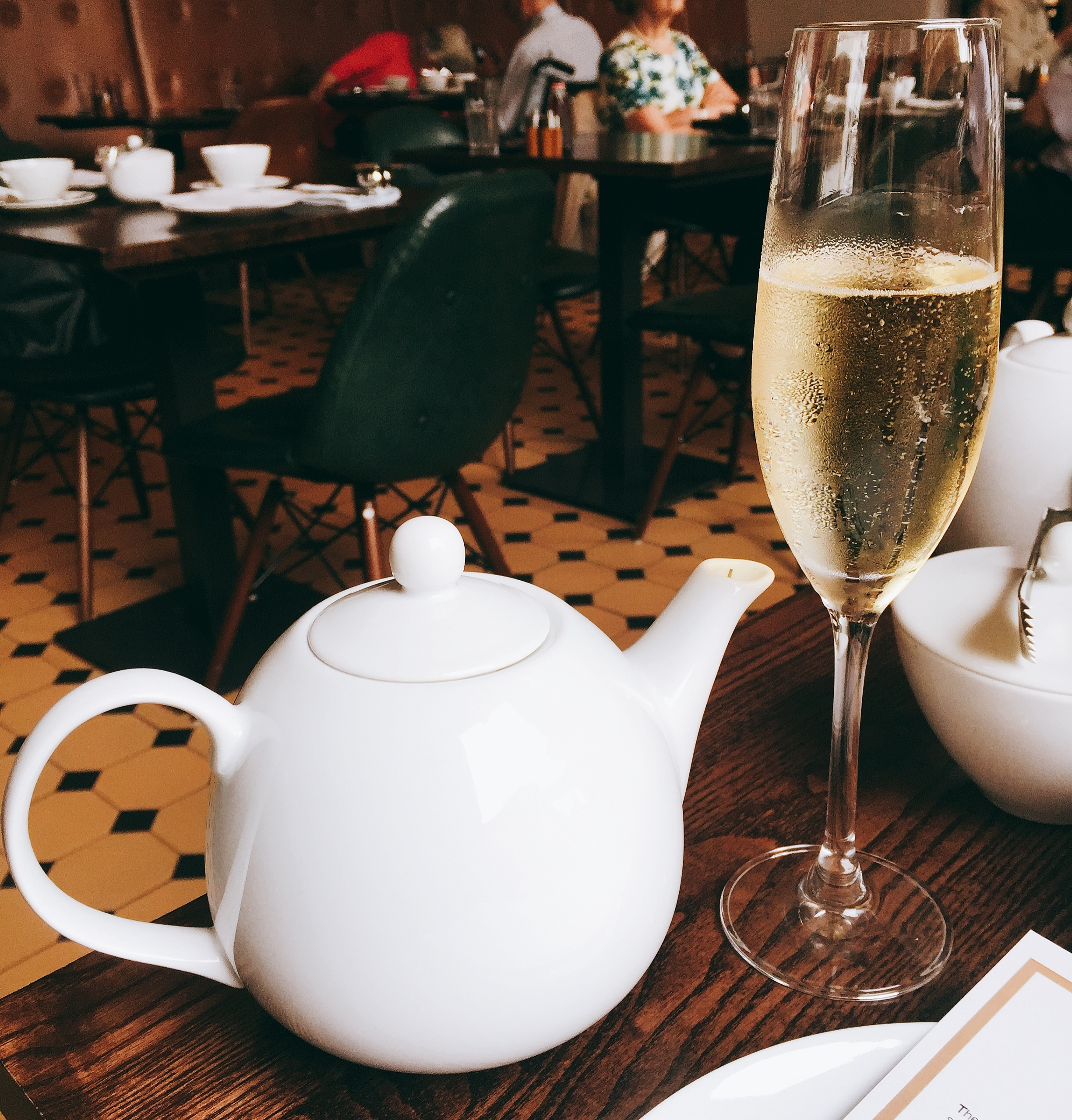 East India Company Tea and Champagne for Afternoon Tea