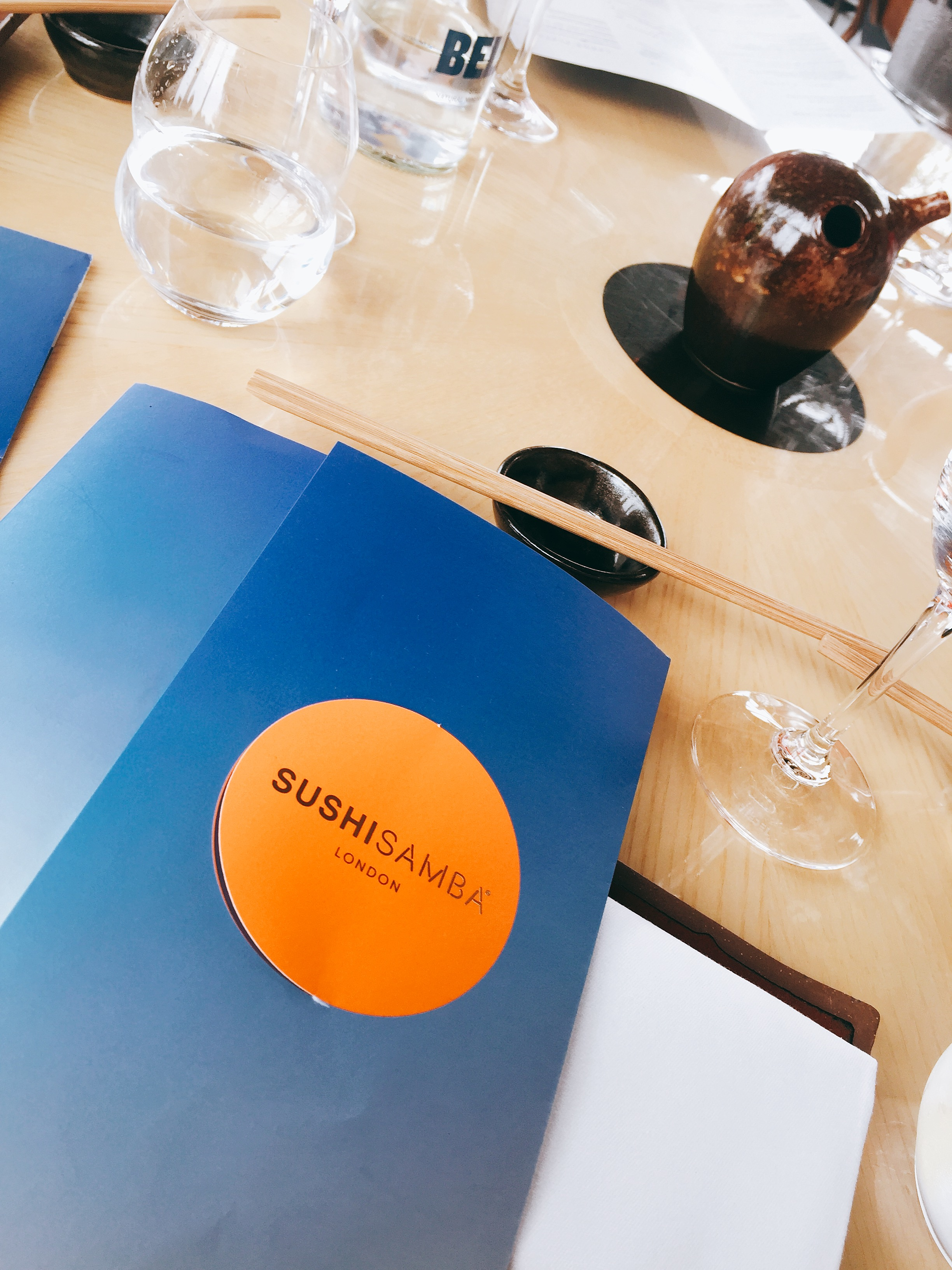 Menu at Sushisamba London