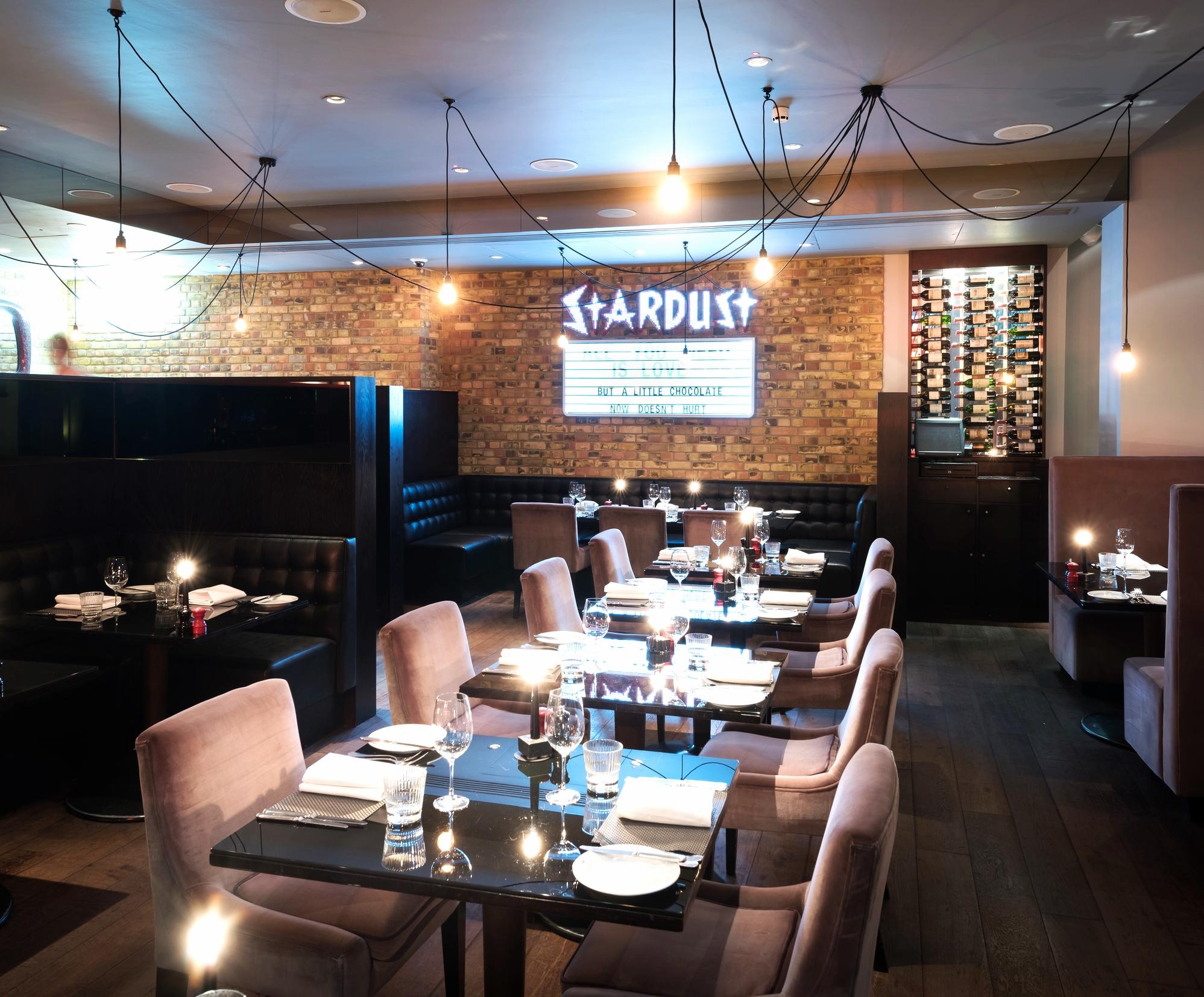 Inside Chez Mal restaurant, Malmaison London