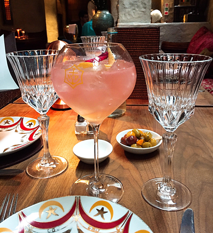 Champagne cocktail menu - Momo restaurant review, Mayfair London