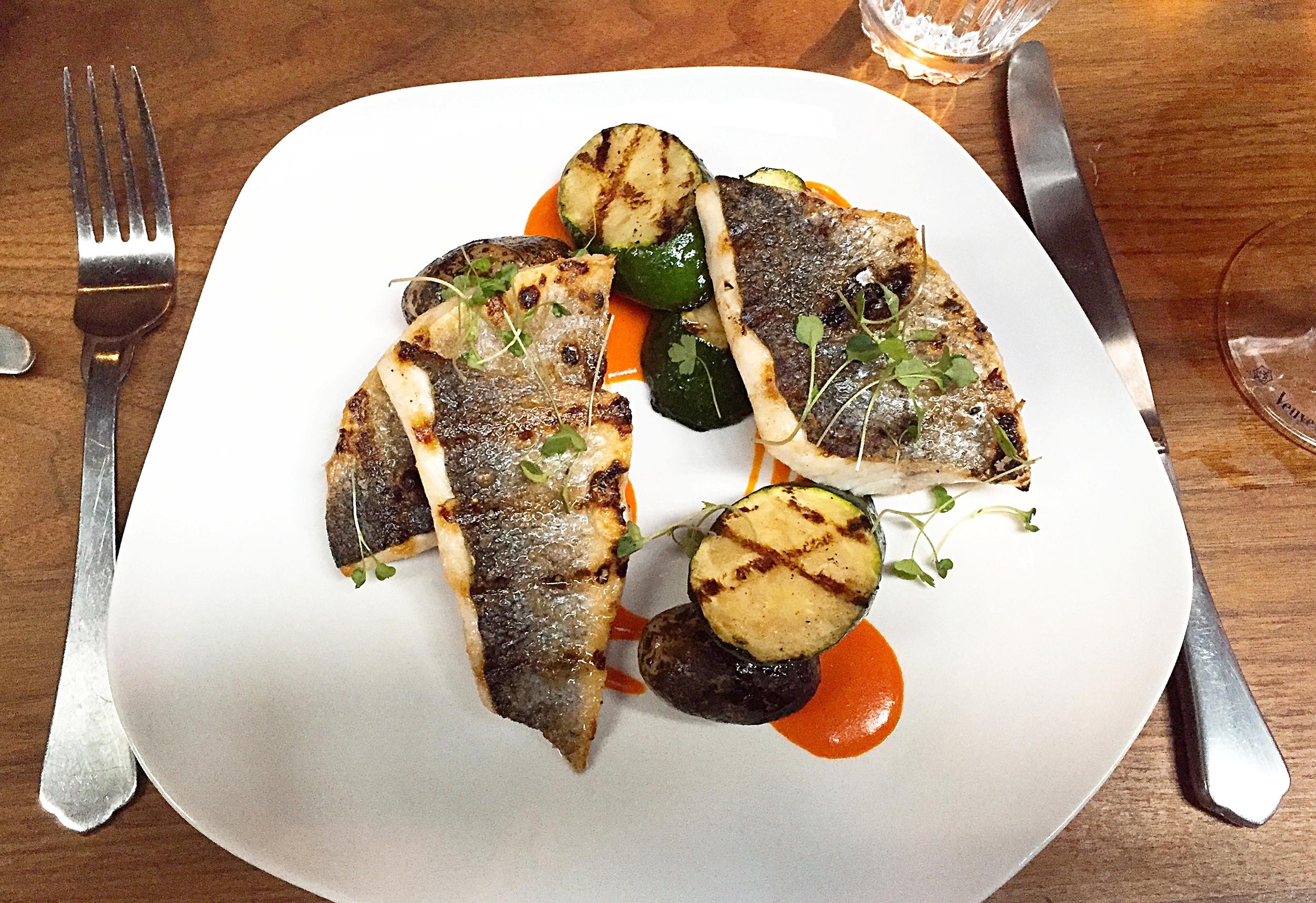 Seabass menu - Momo restaurant review, Mayfair London