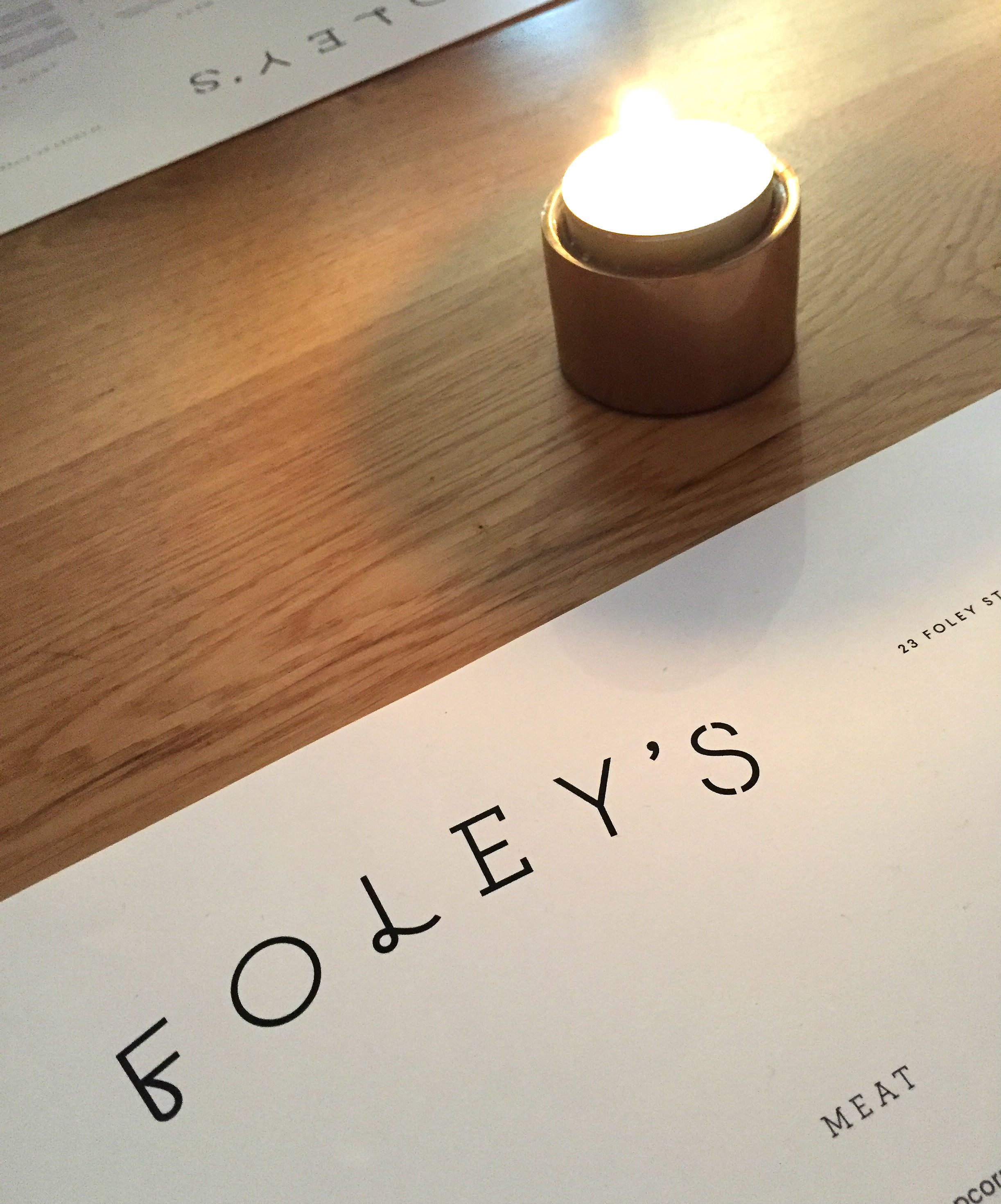 Foley's restaurant review - table