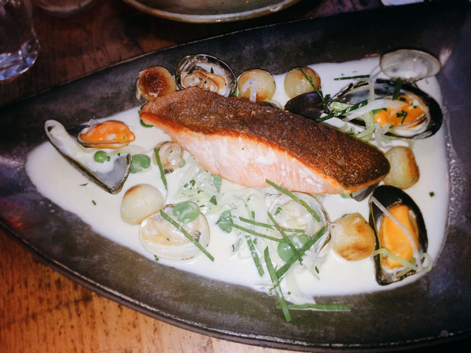 Salmon - Salut! Restaurant Review