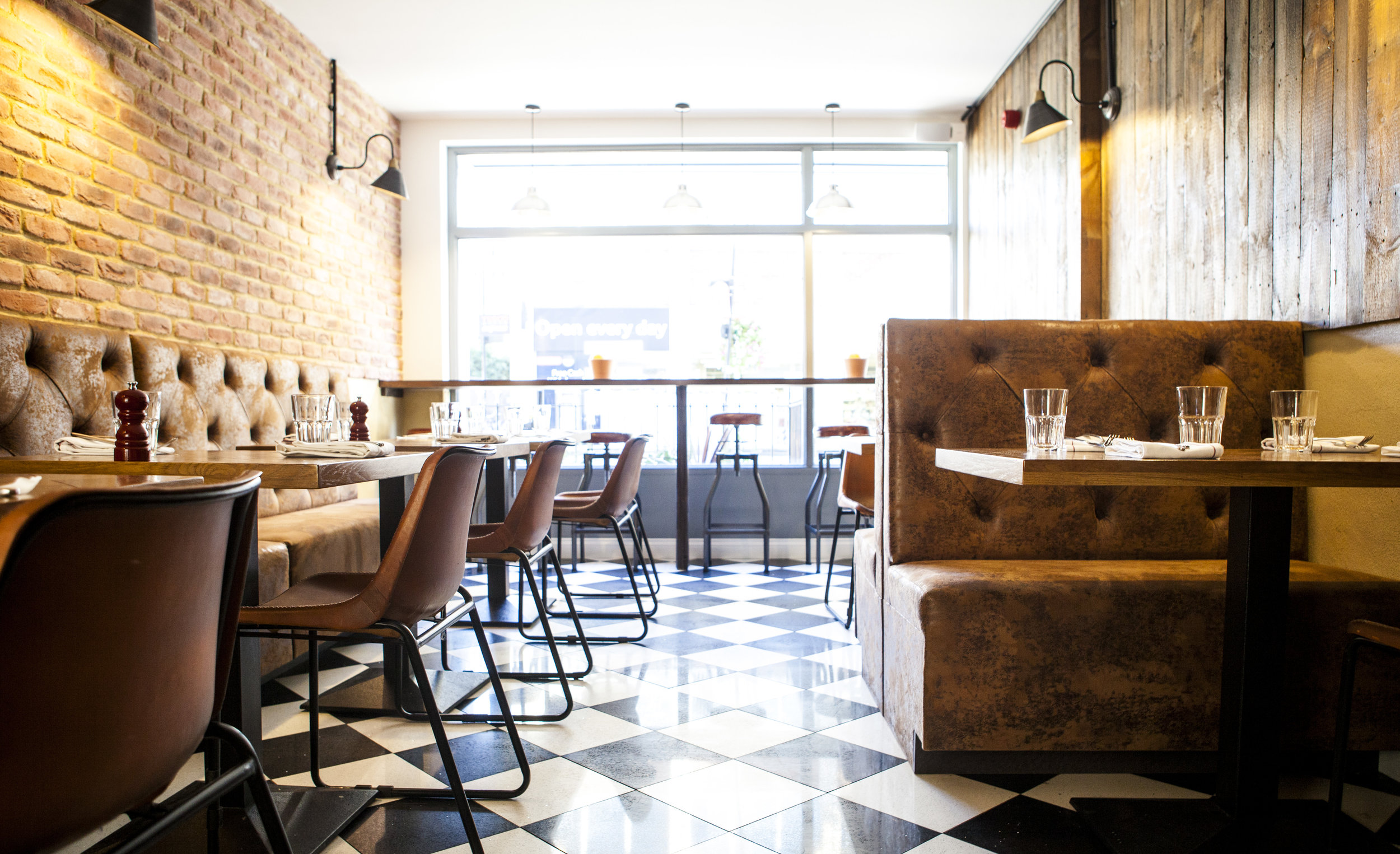 Firebrand Pizza, Marylebone Interior