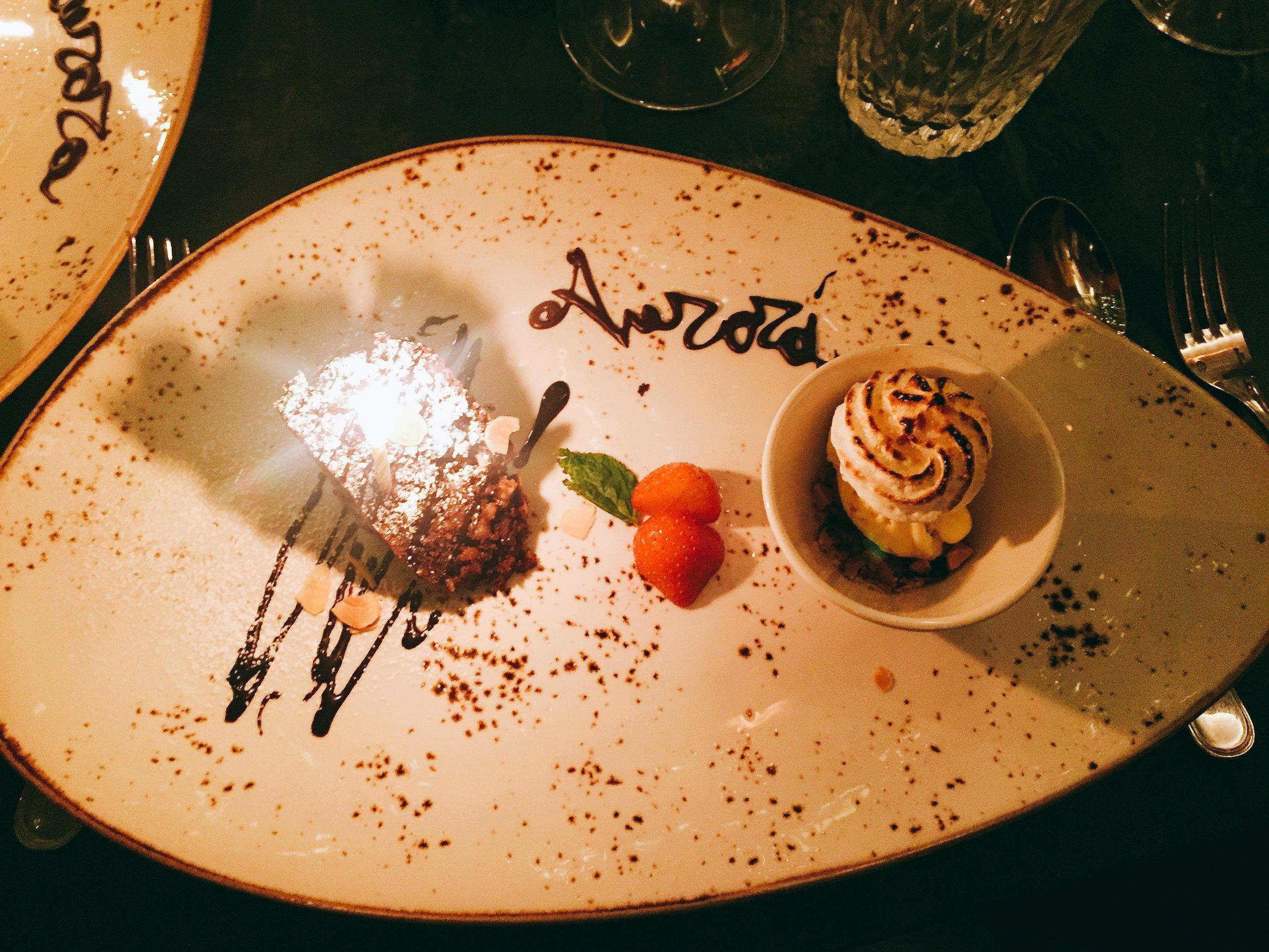 Dessert at Frescobaldi