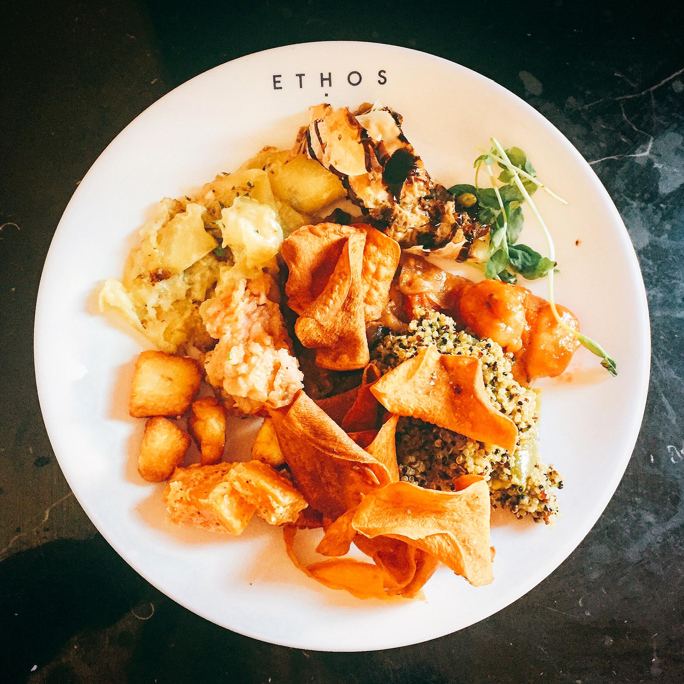 Ethos restaurant review - menu