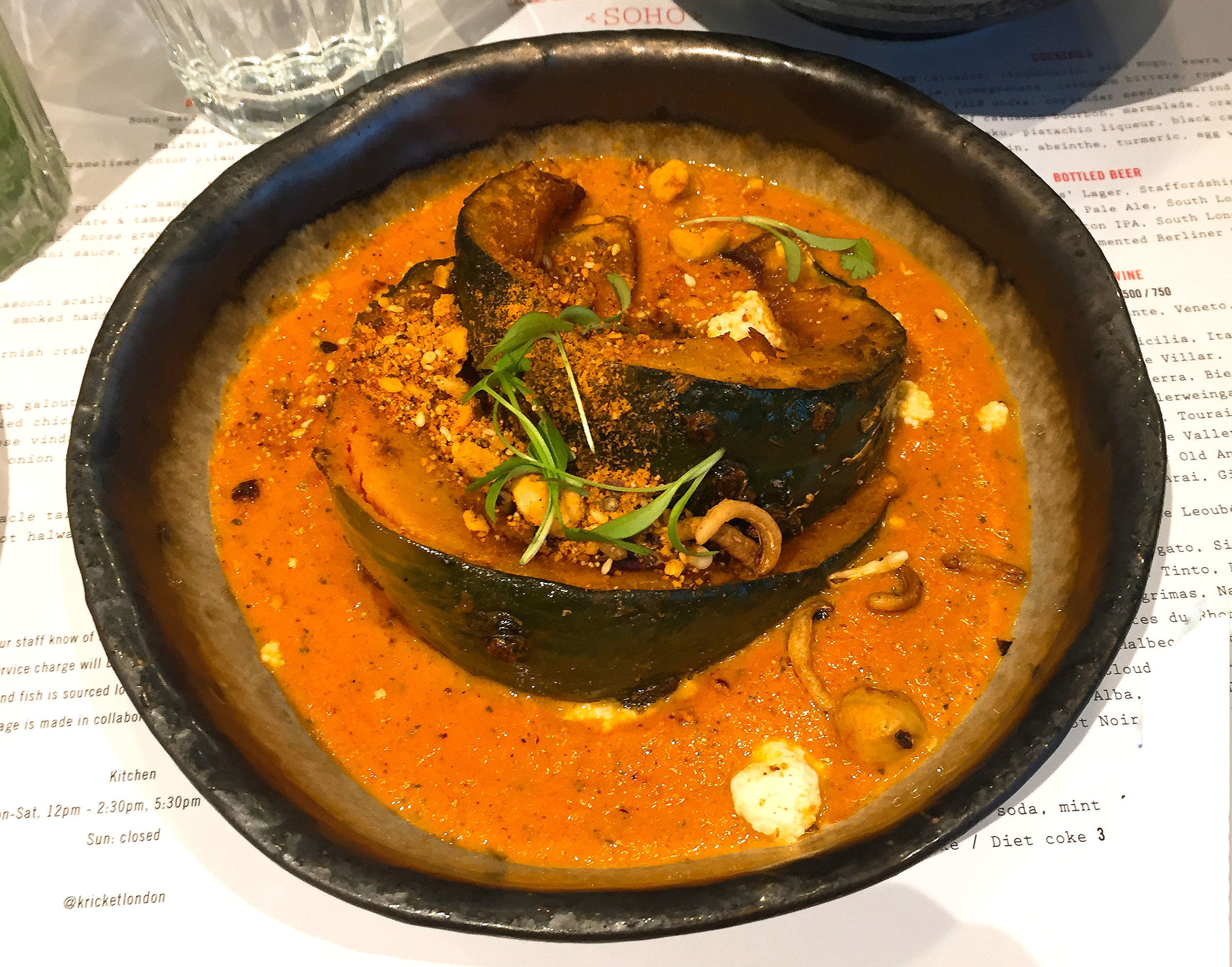 Pumpkin at Kricket Soho restaurant review