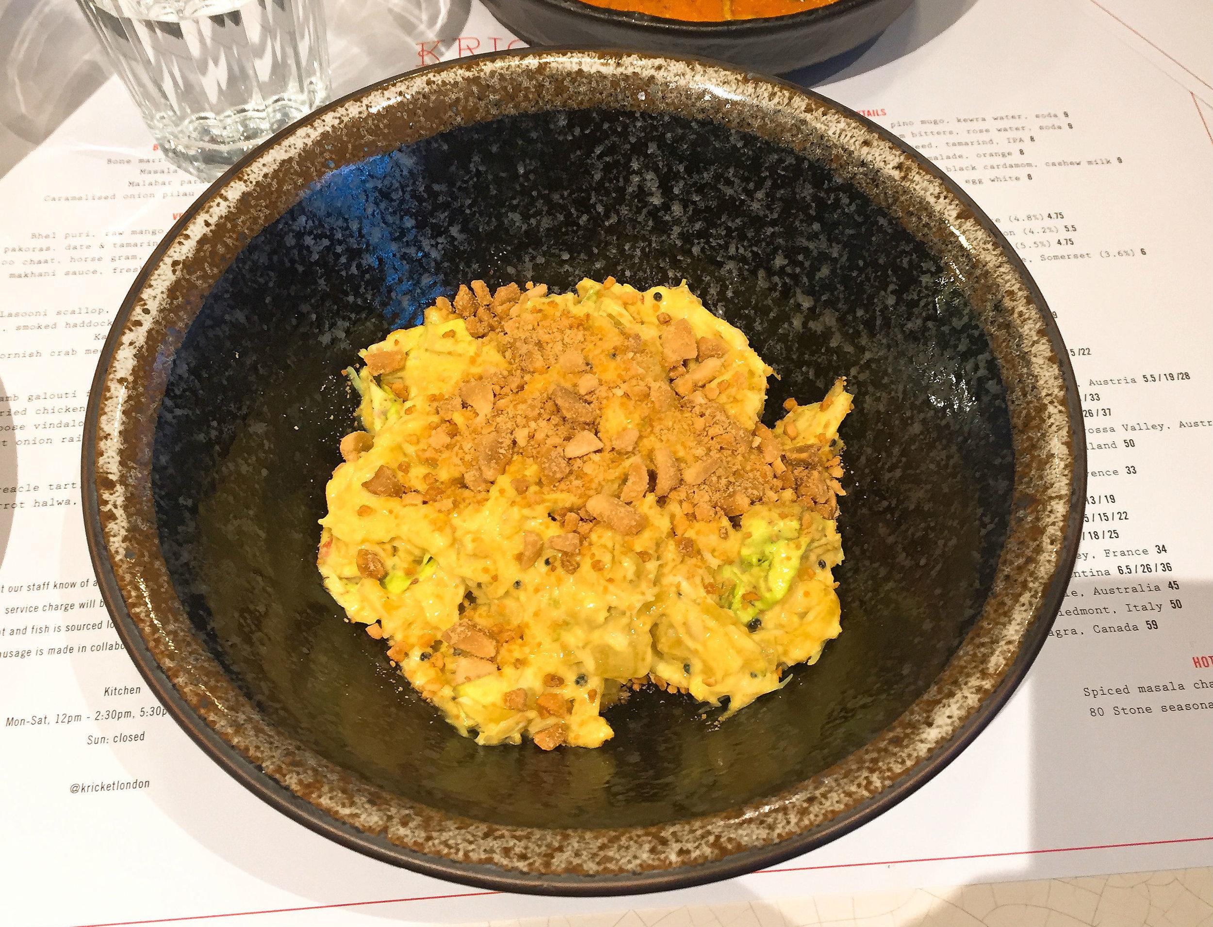 Kricket Soho restaurant review - Crab Main Course