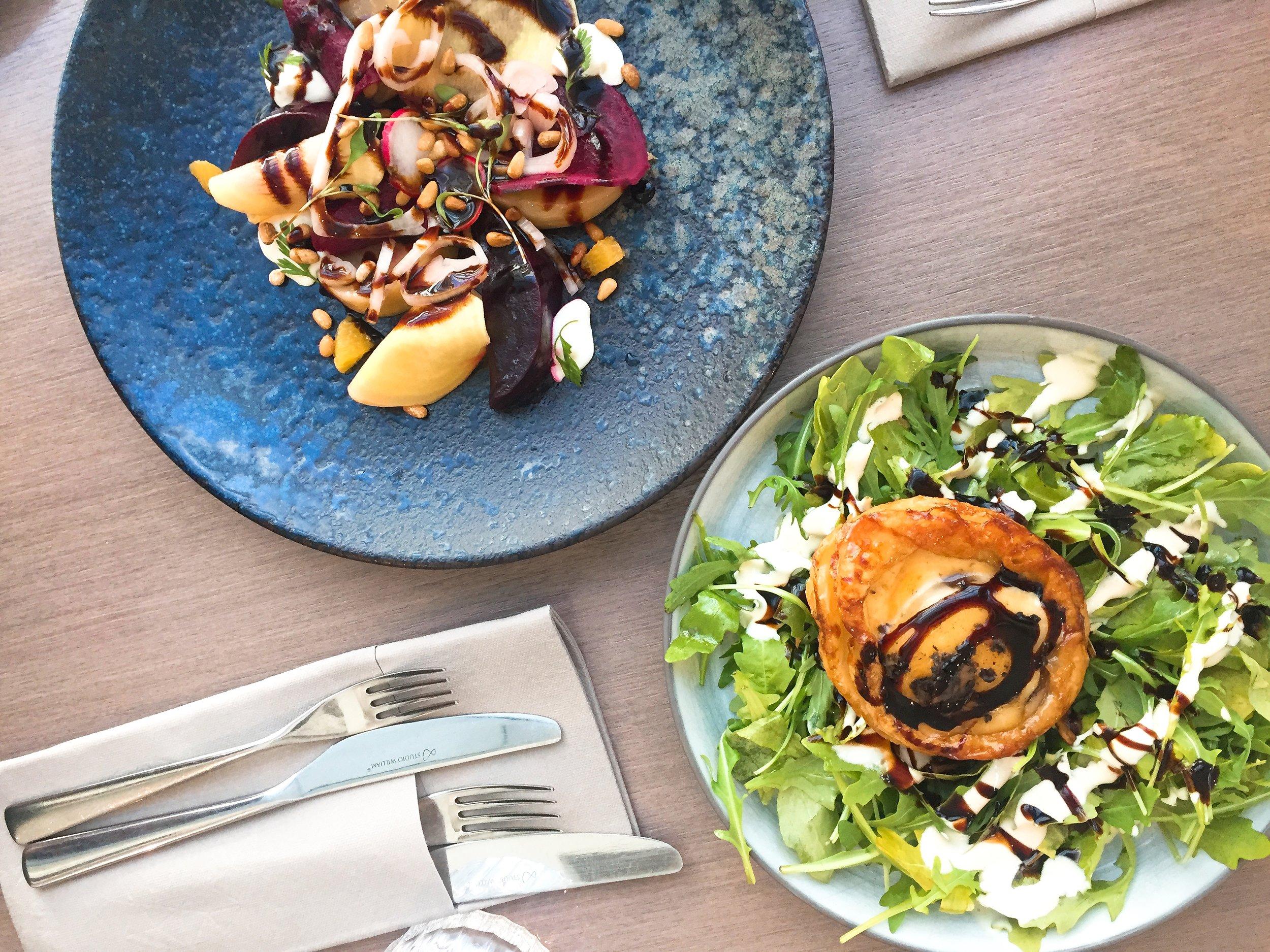 Starters at Darwin Brasserie, Sky Garden