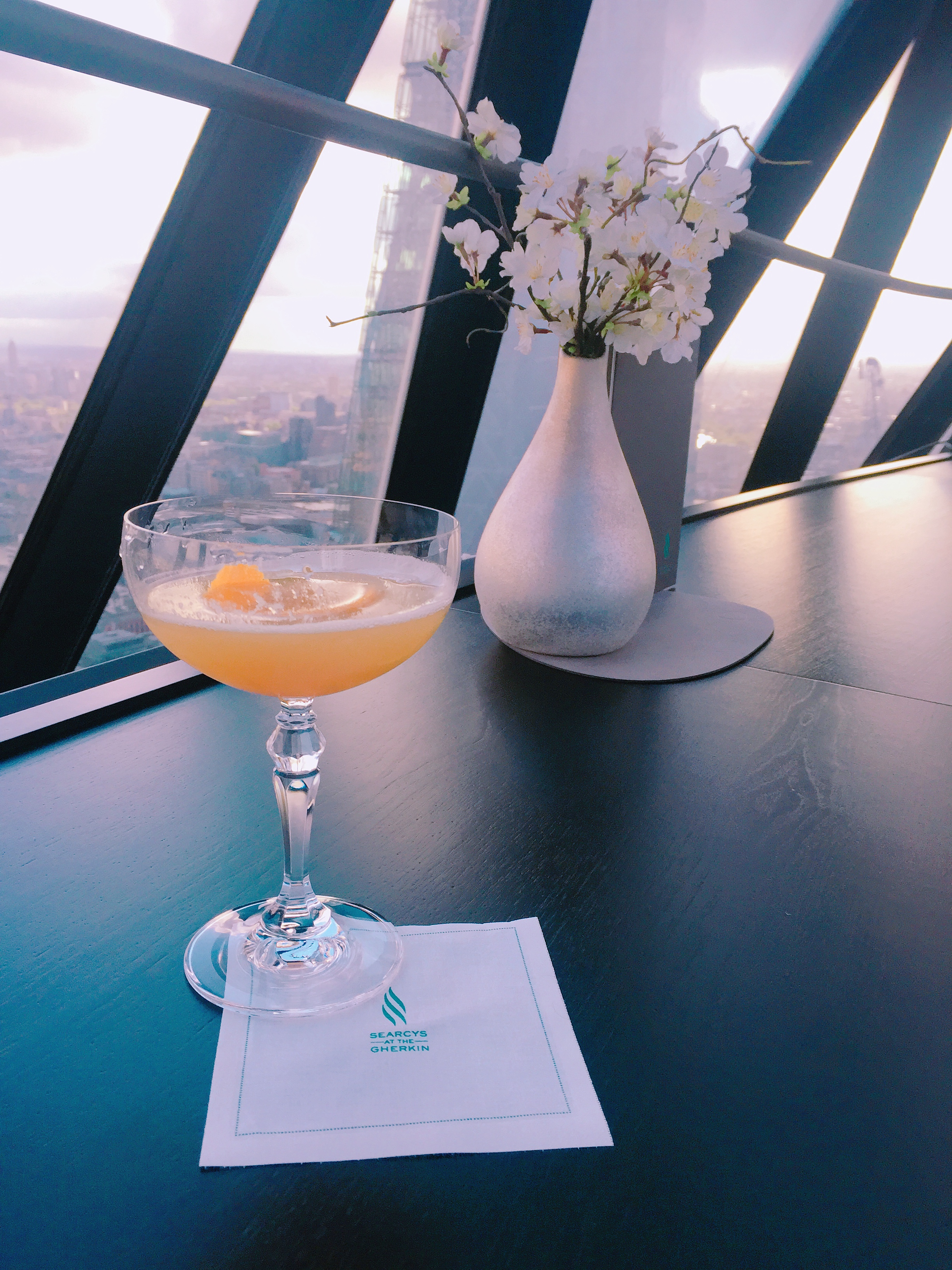 Searcys at the Gherkin cocktails