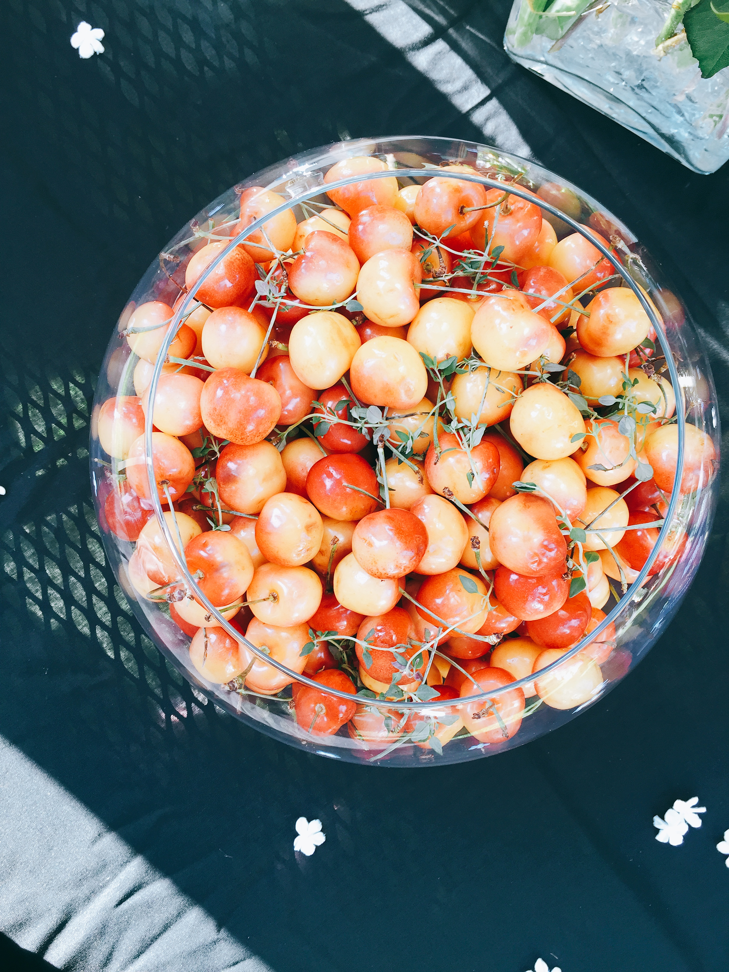 Rainier cherries especially for summer