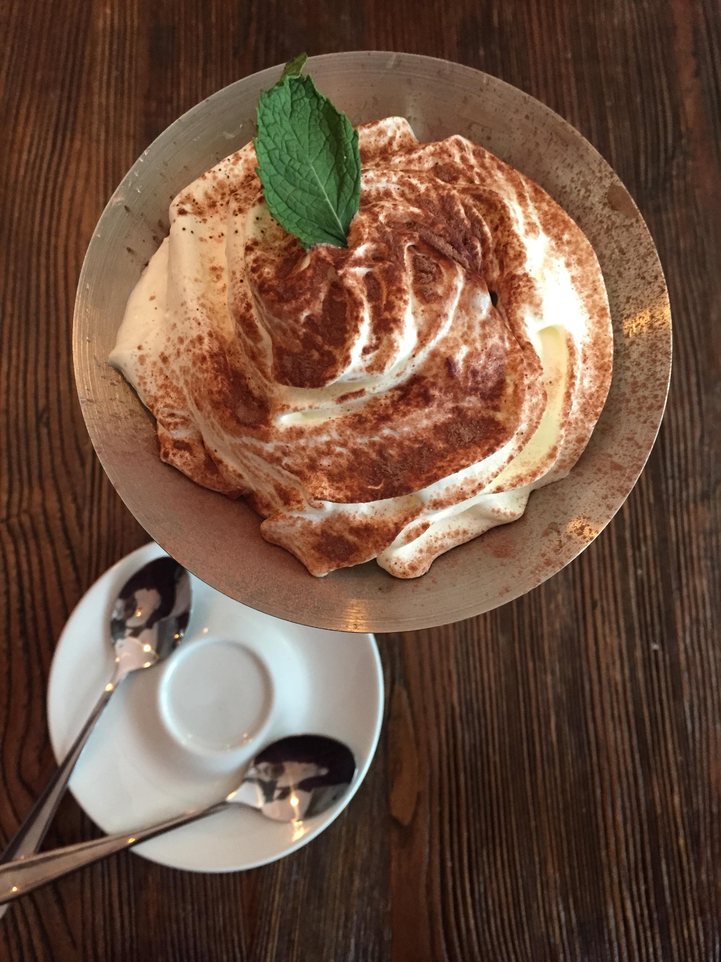 Dessert at B'acino wine bar restaurant