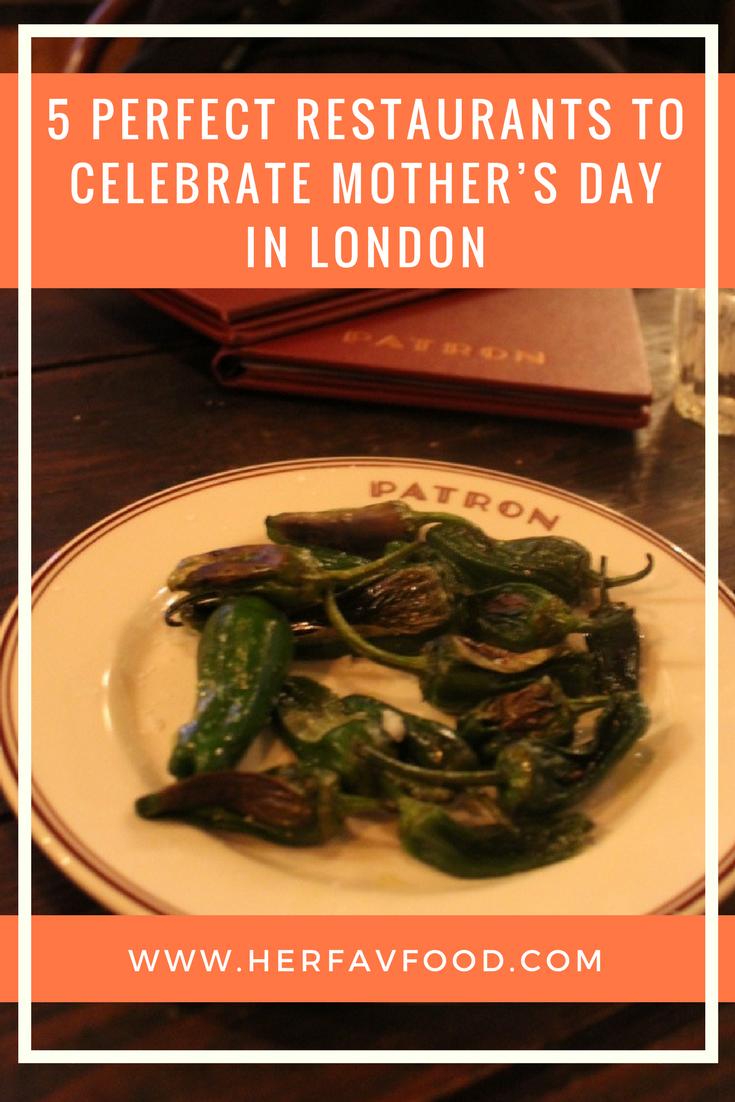 Best restaurants for Mother's Day London