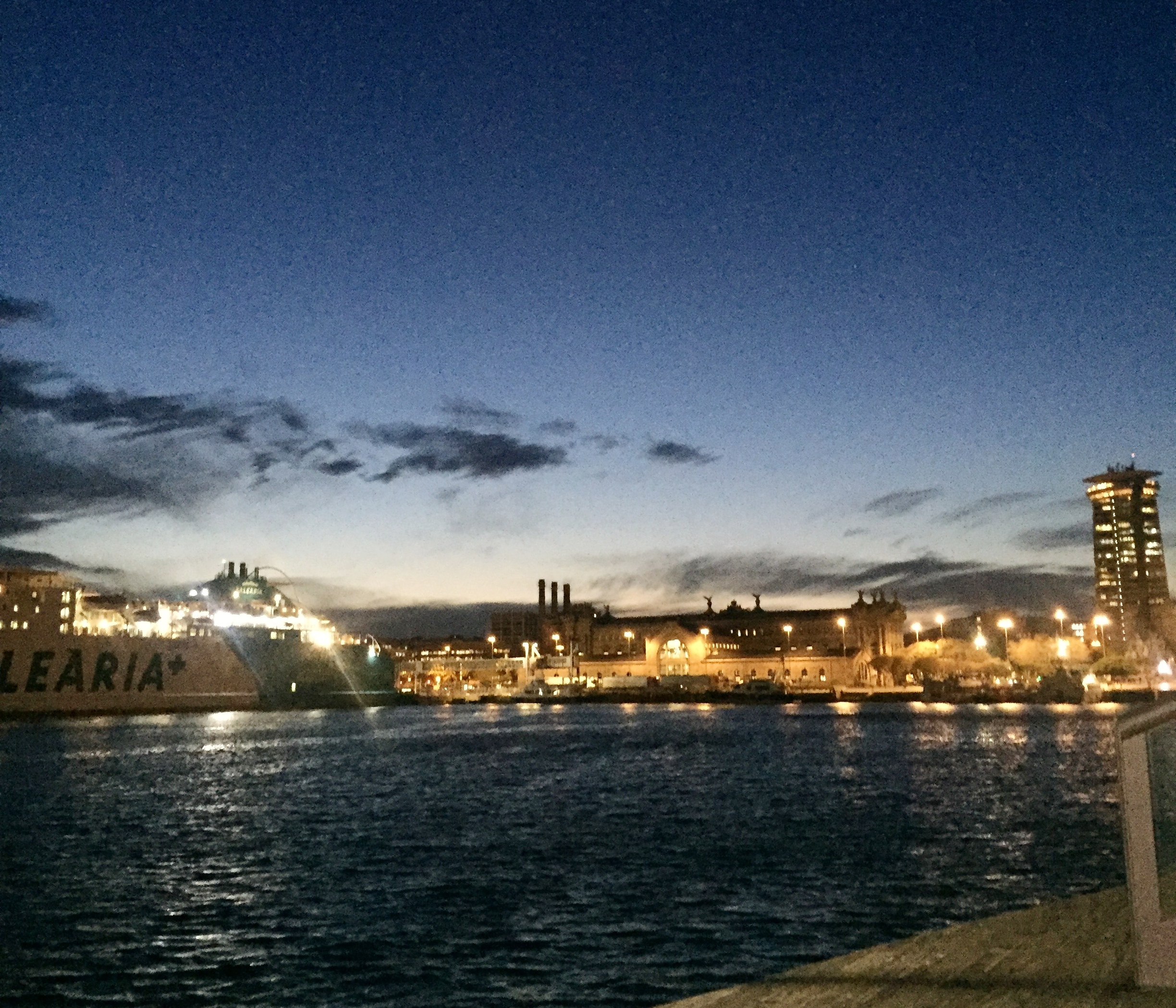 Barcelona beach at night - travel guide