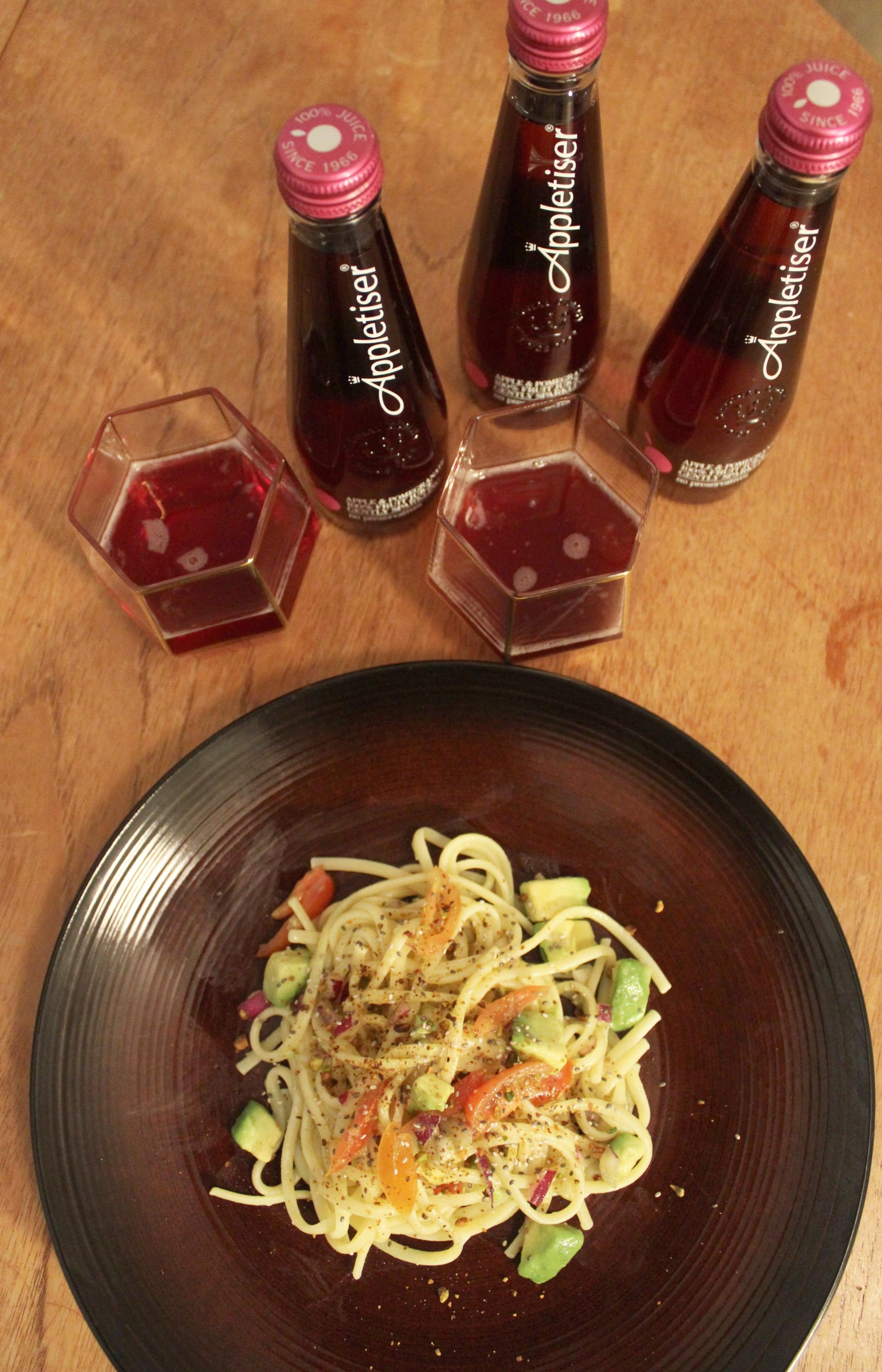 Healthy easy linguine recipe for Spring