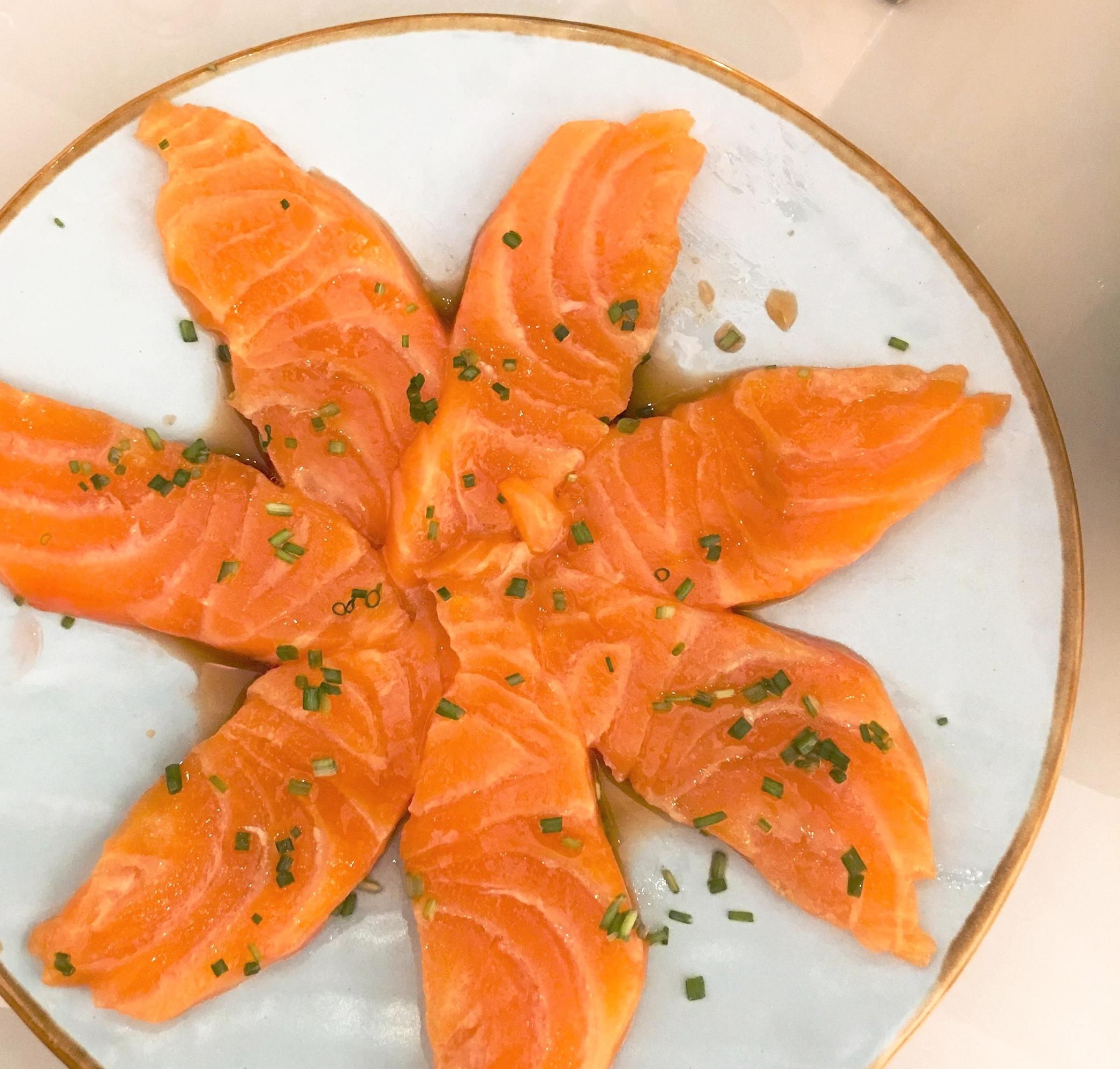 Sashimi at Temakinho Soho restaurant review