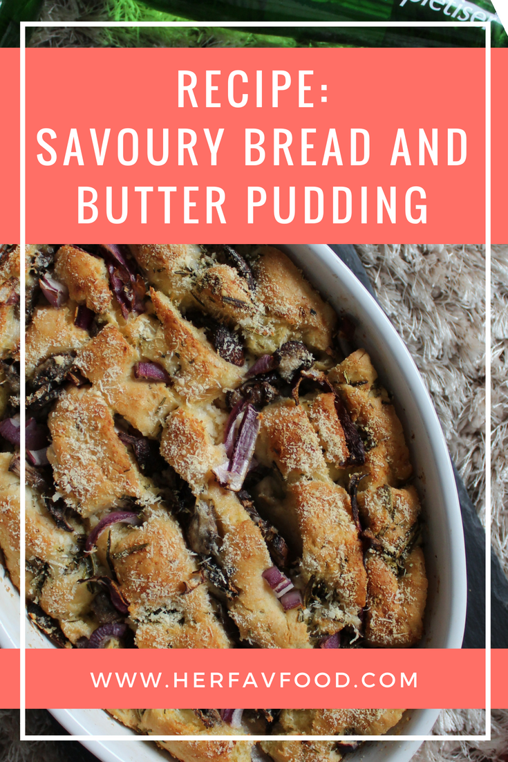 Savoury bread and butter pudding recipe
