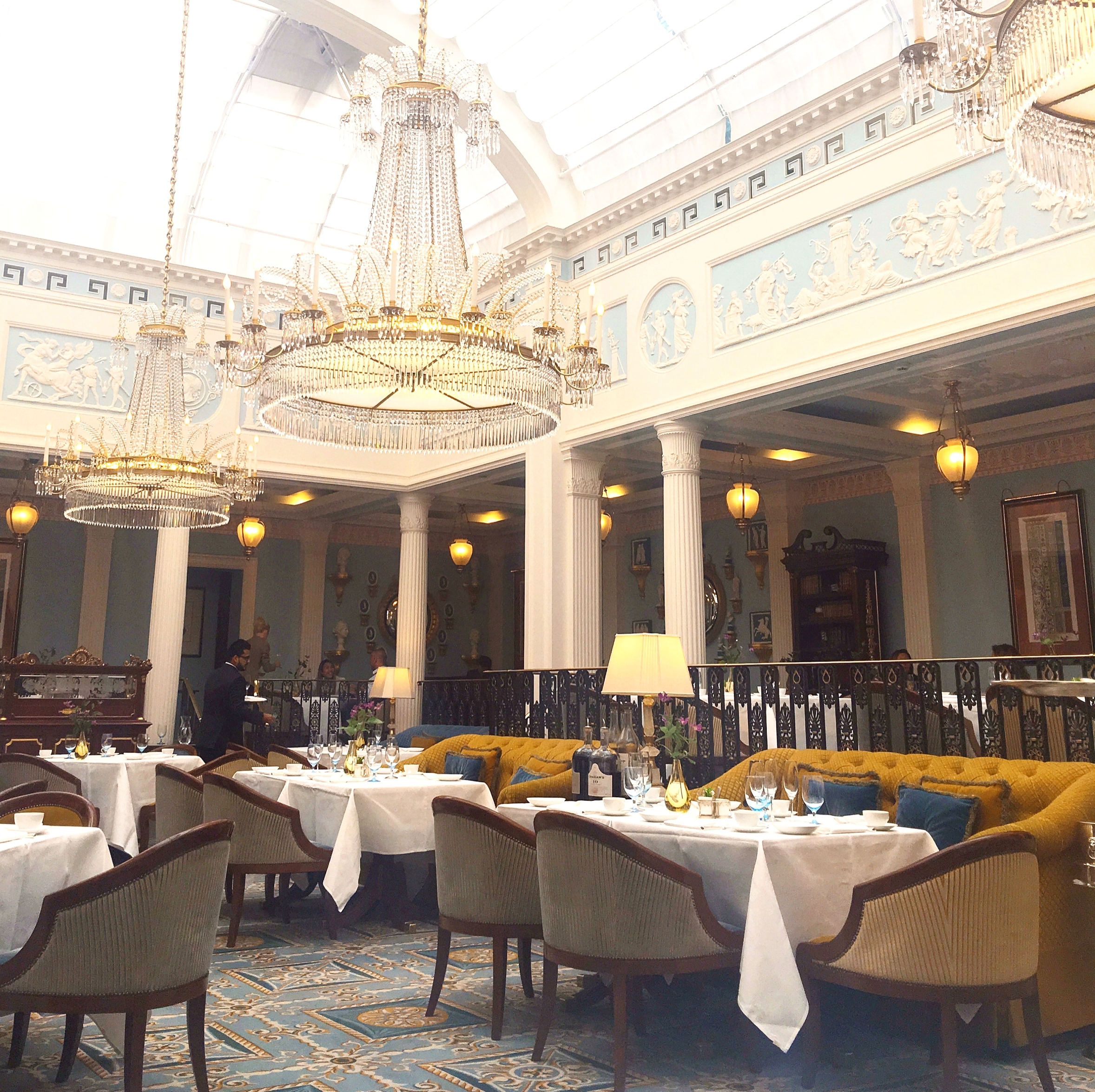 lunch at Celeste at the Lanesborough hotel London