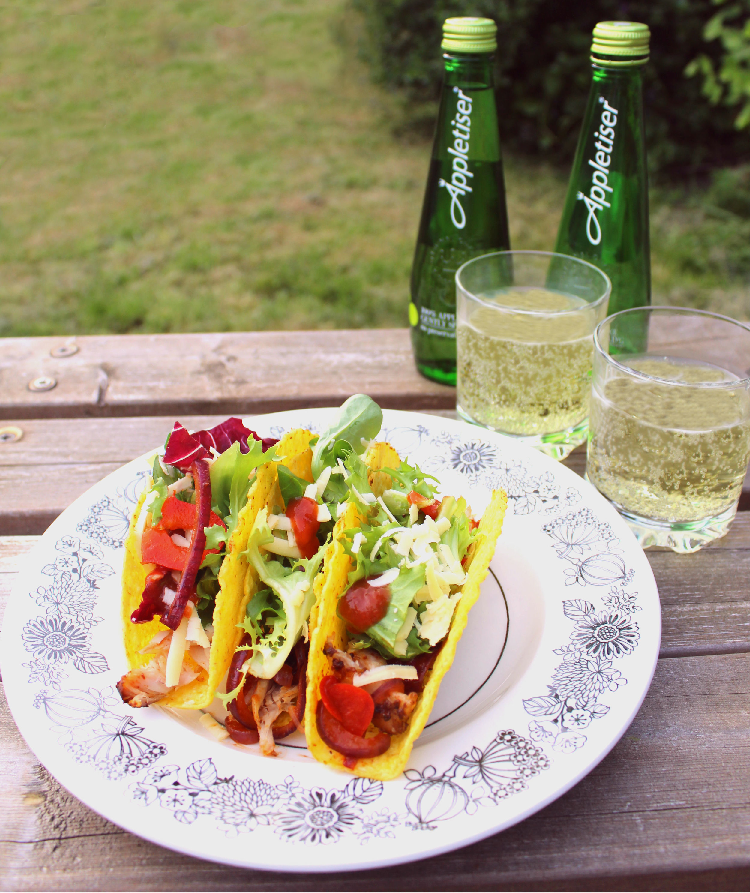 Grilled Barbecue Chicken Pineapple Tacos recipe