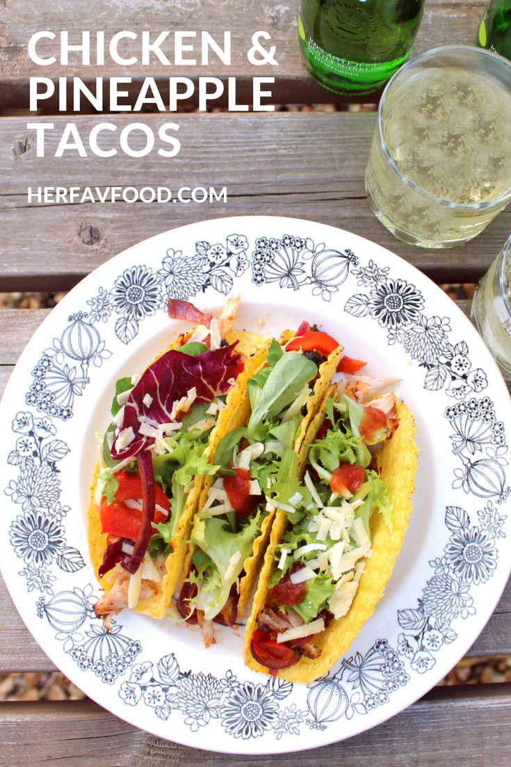 Chicken and pineapple tacos Summer recipe